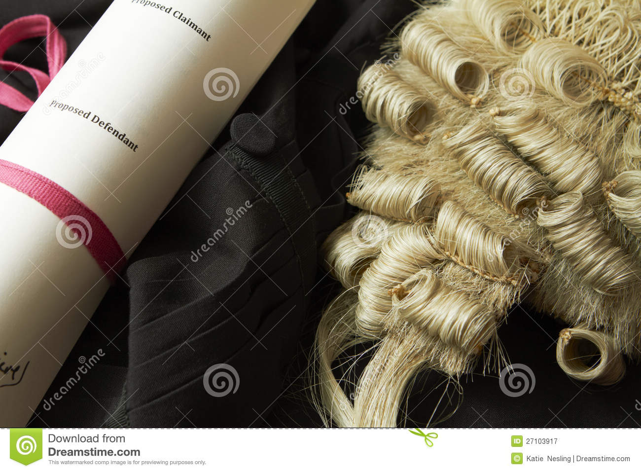 Still Life Of Barrister\'s Wig And Gown Stock Image - Image of ...