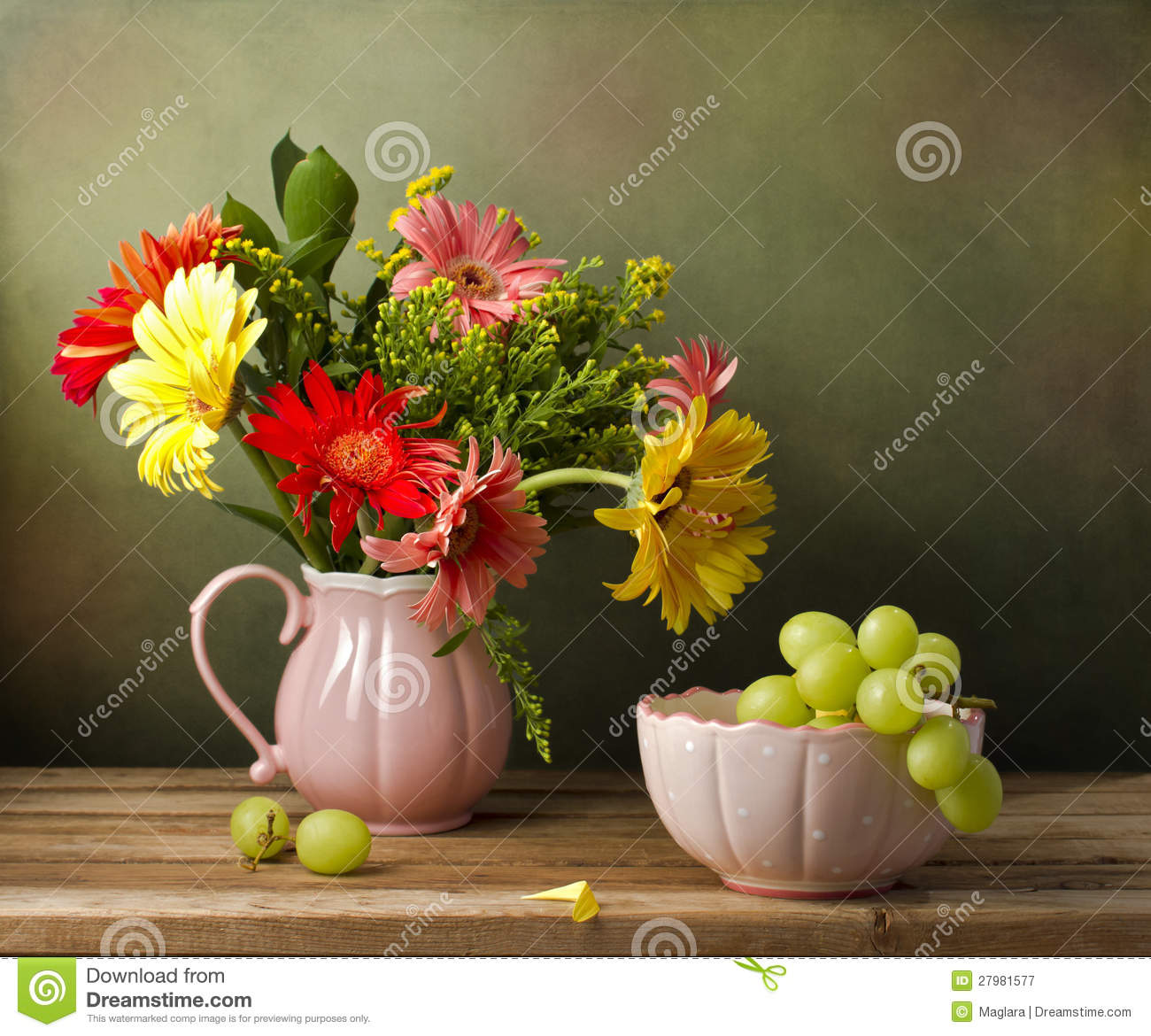 Still Life With Beautiful Flower Bouquet Stock Image