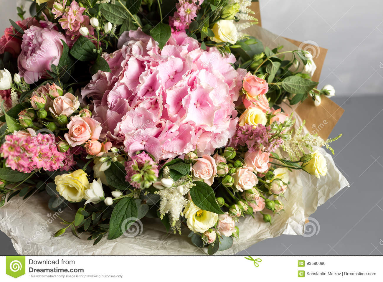 Still life with a bouquet of flowers the florist put together a royalty free stock photo izmirmasajfo