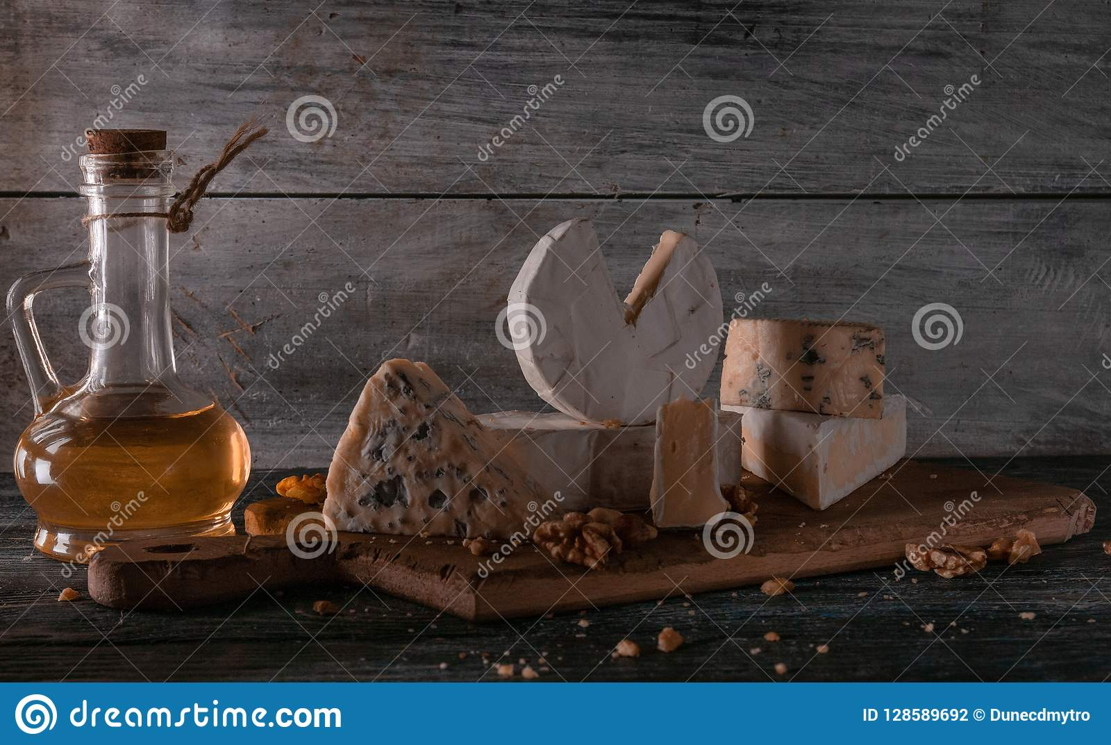 Still life with cheese.