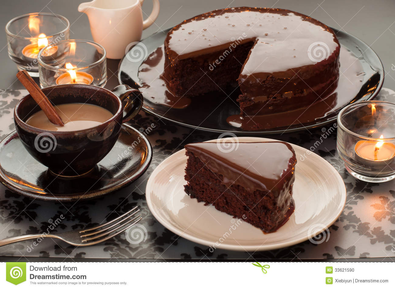 Chocolate Cake With Coffee Beans