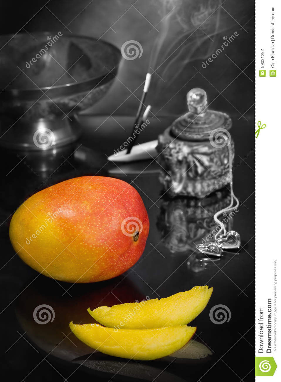 Still life with mango Flavor of the East