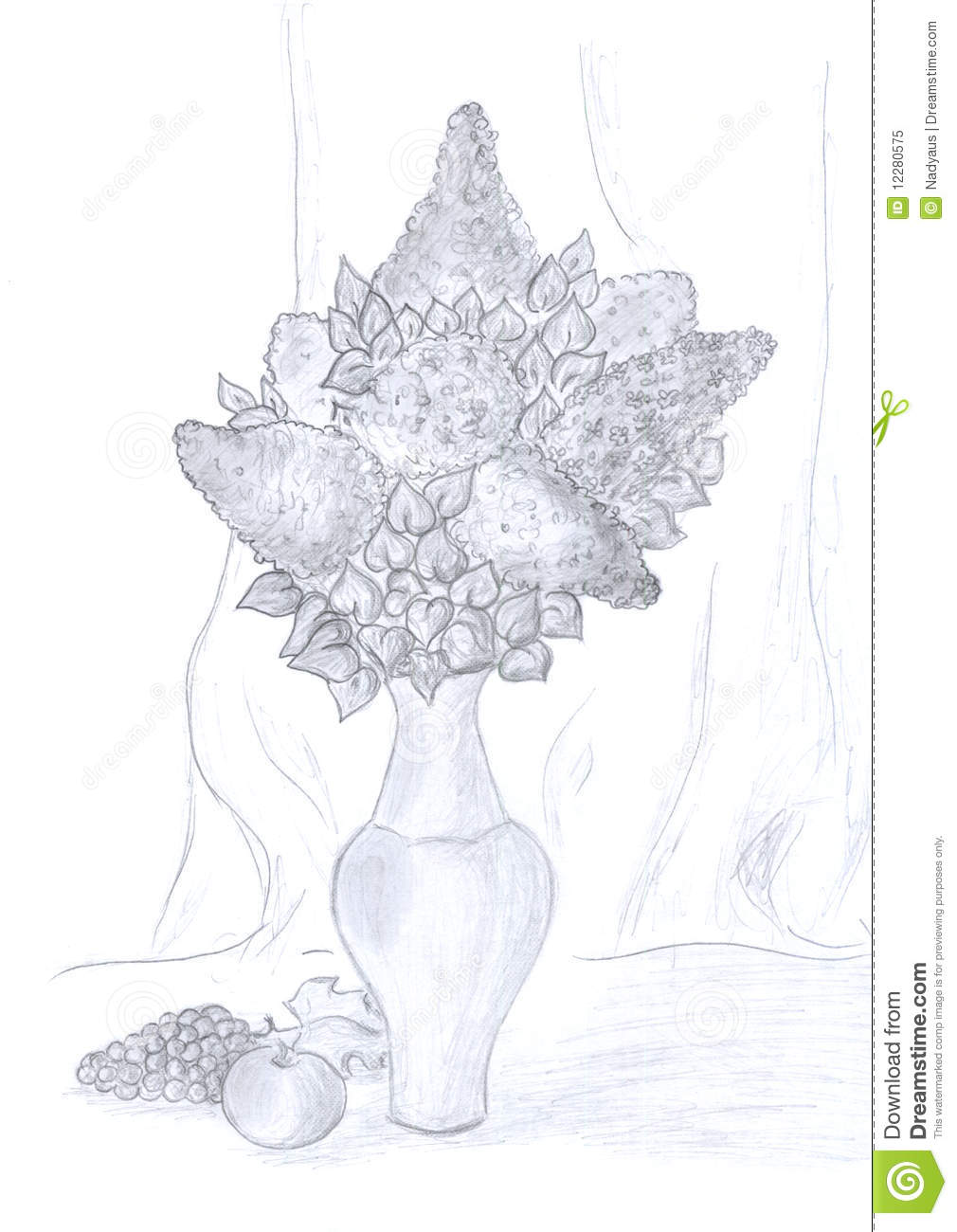 Still life pencil drawing download preview