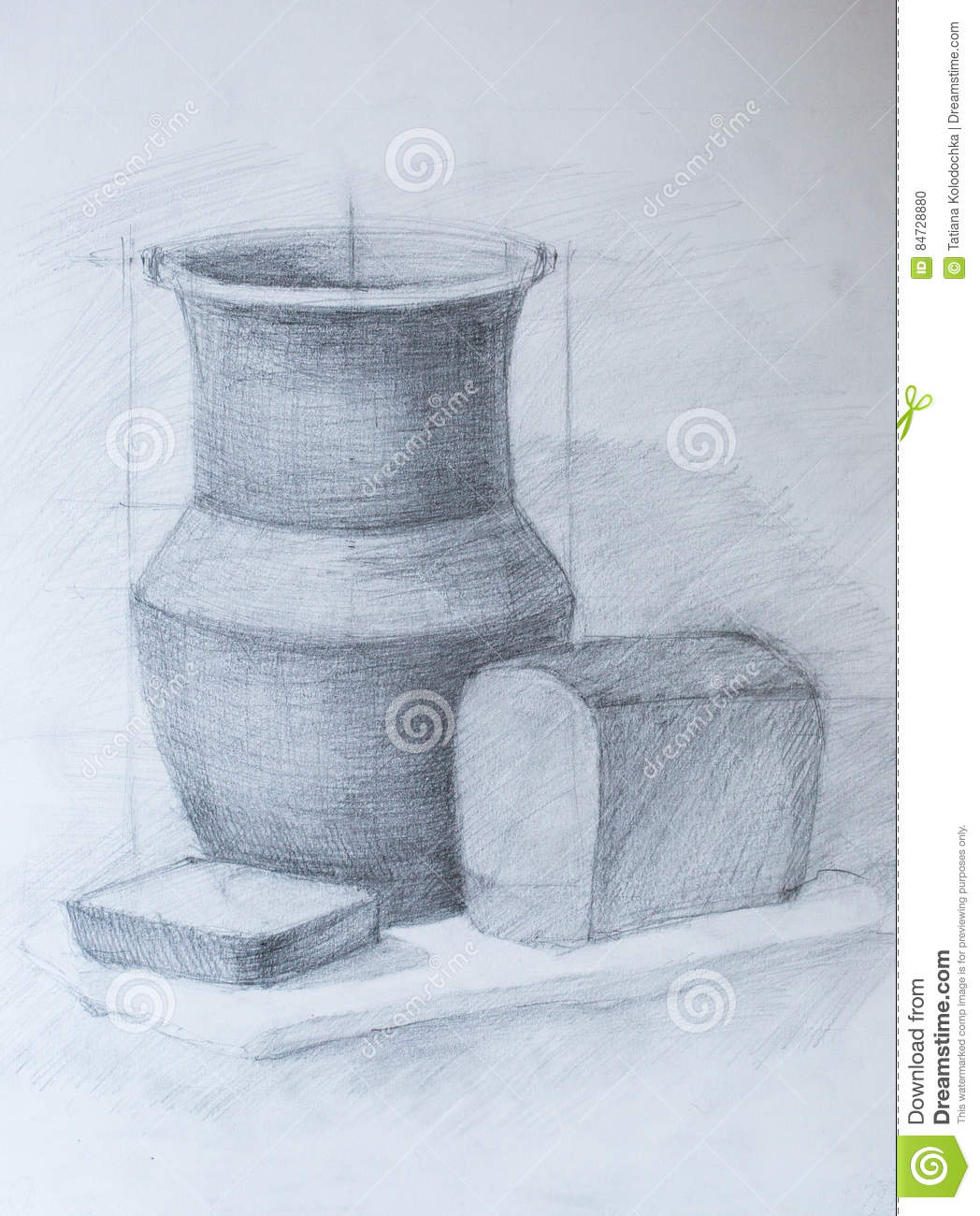 Still life pencil drawing stock illustration illustration of