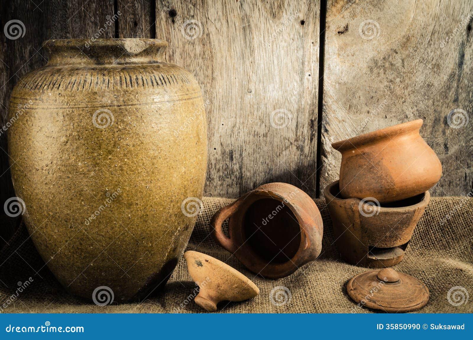 Still Life The Pottery Stock Photo Image 35850990