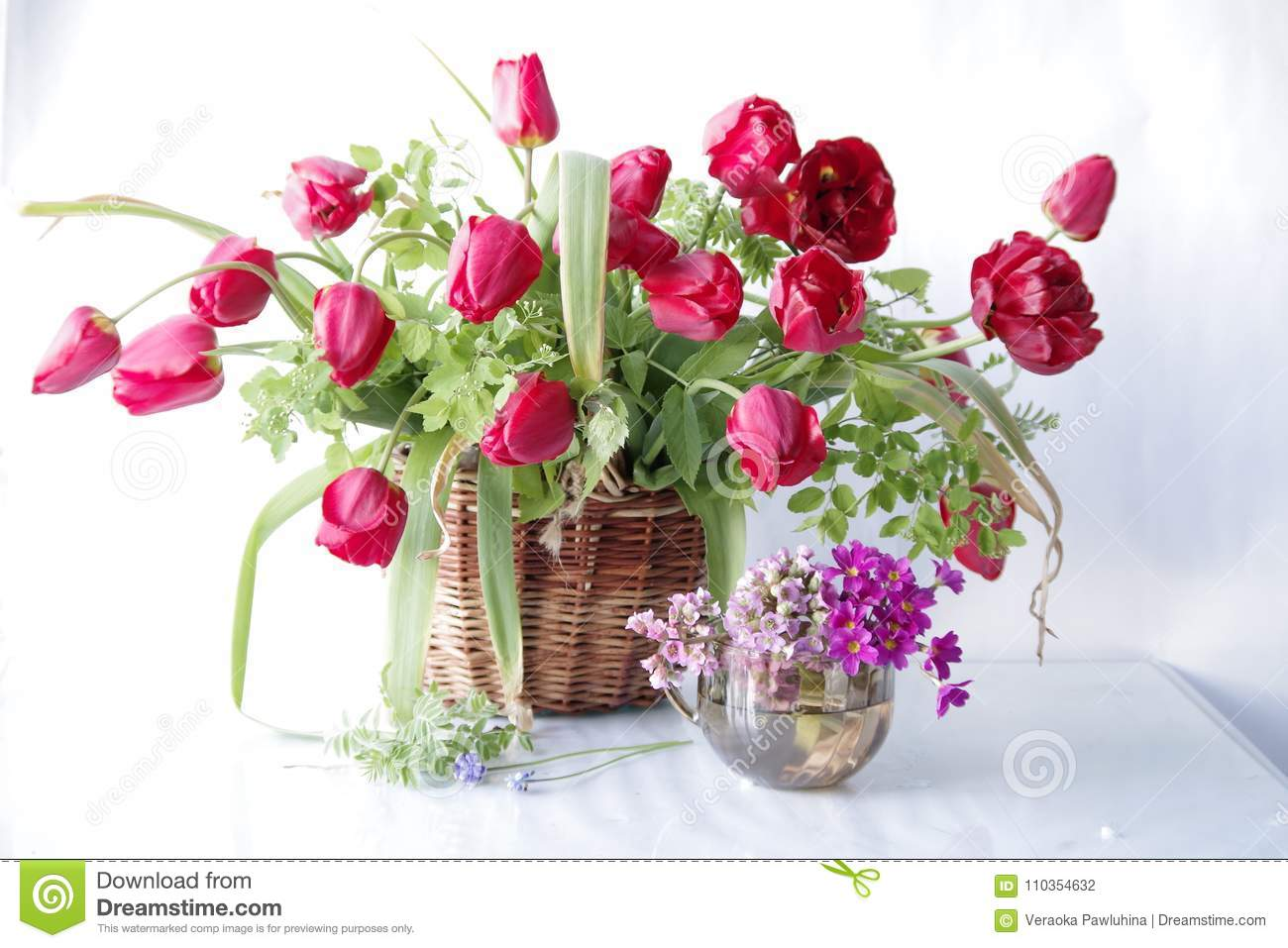Spring beautiful flowers in the basket stock photo image of royalty free stock photo izmirmasajfo