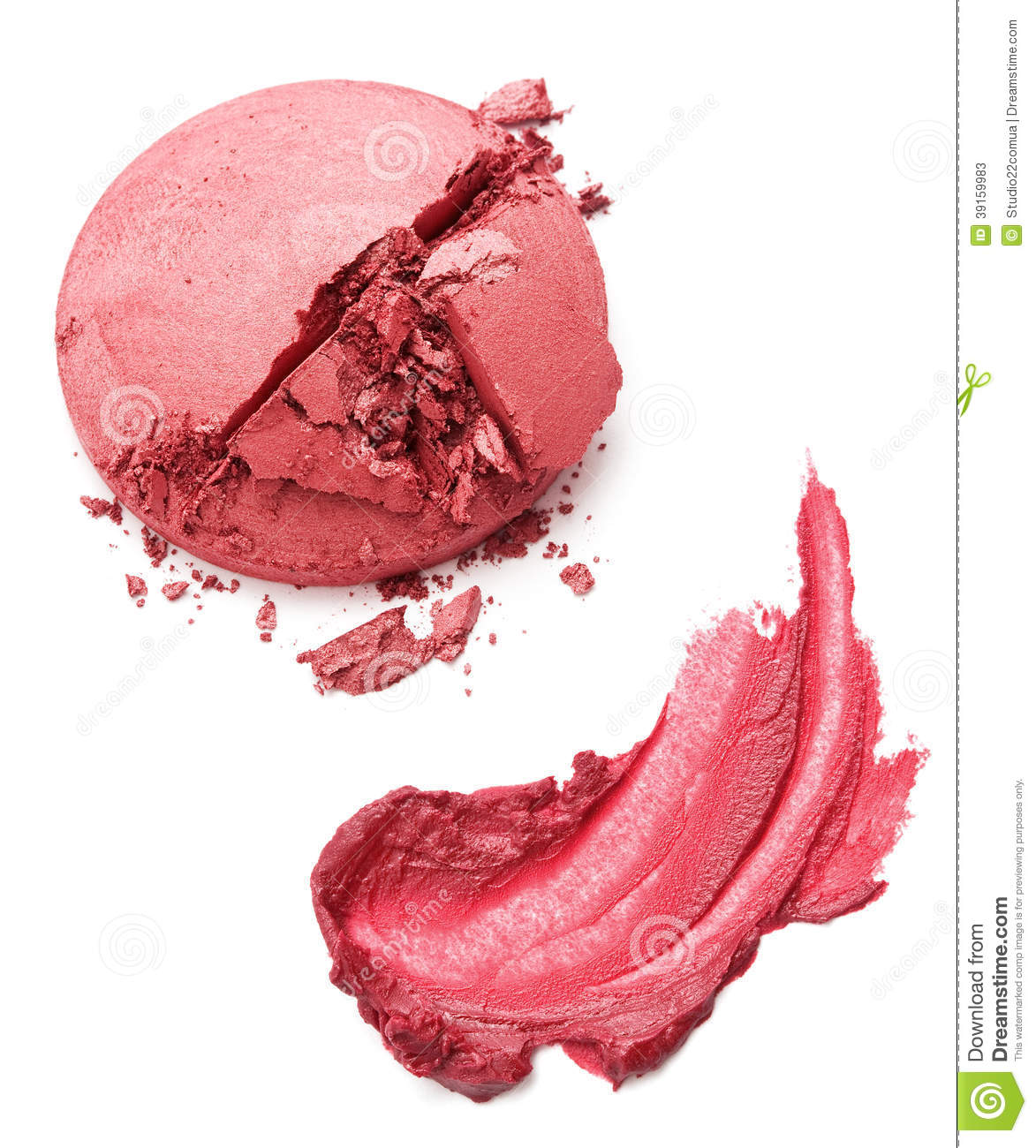 Still Life Of A Smear Of Lipstick And Blush Stock Photo - Image ...