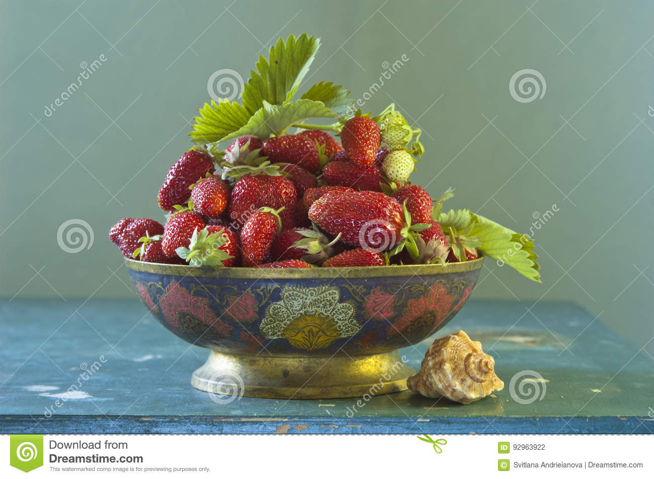 Still life with strawberry