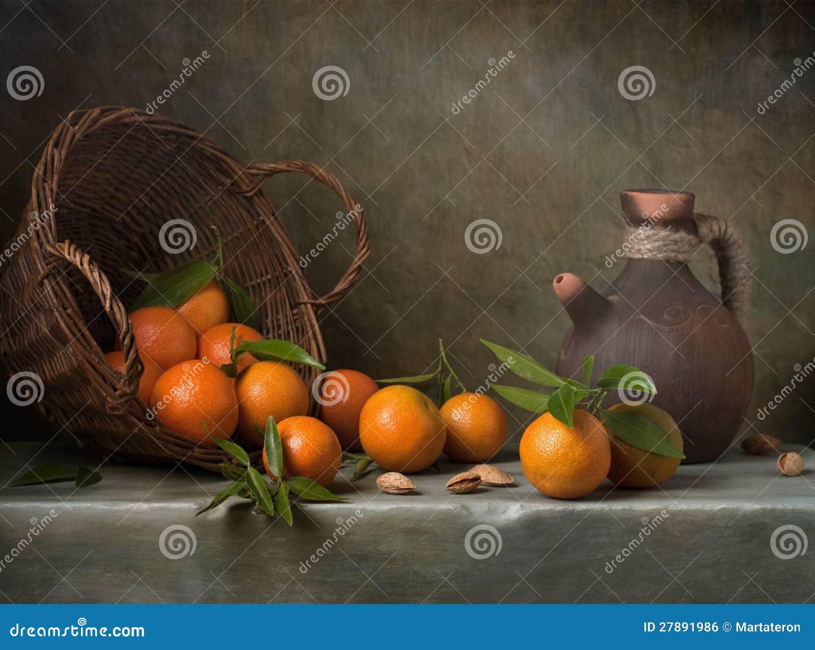 Still life with tangerines