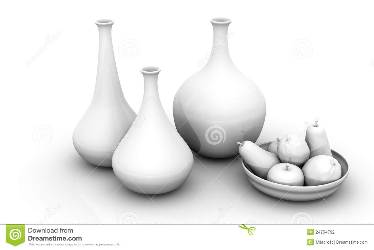 Still life with vases and fruits stock illustration illustration still life with vases and fruits reviewsmspy