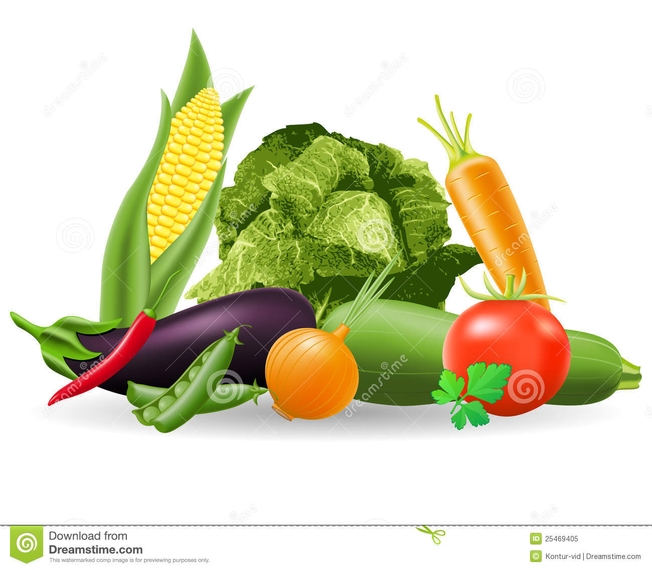 free vector vegetables clipart - photo #12