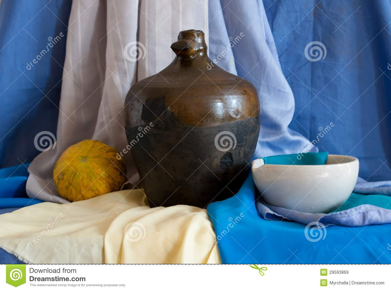 Download Still Life Of Vintage Household Items Stock Image - Image of primeval, plate: 29593869