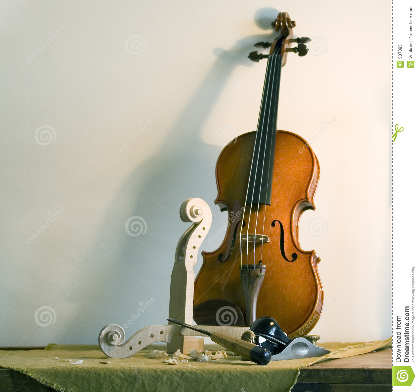 Still life with violin stock image. Image of tools, base ...