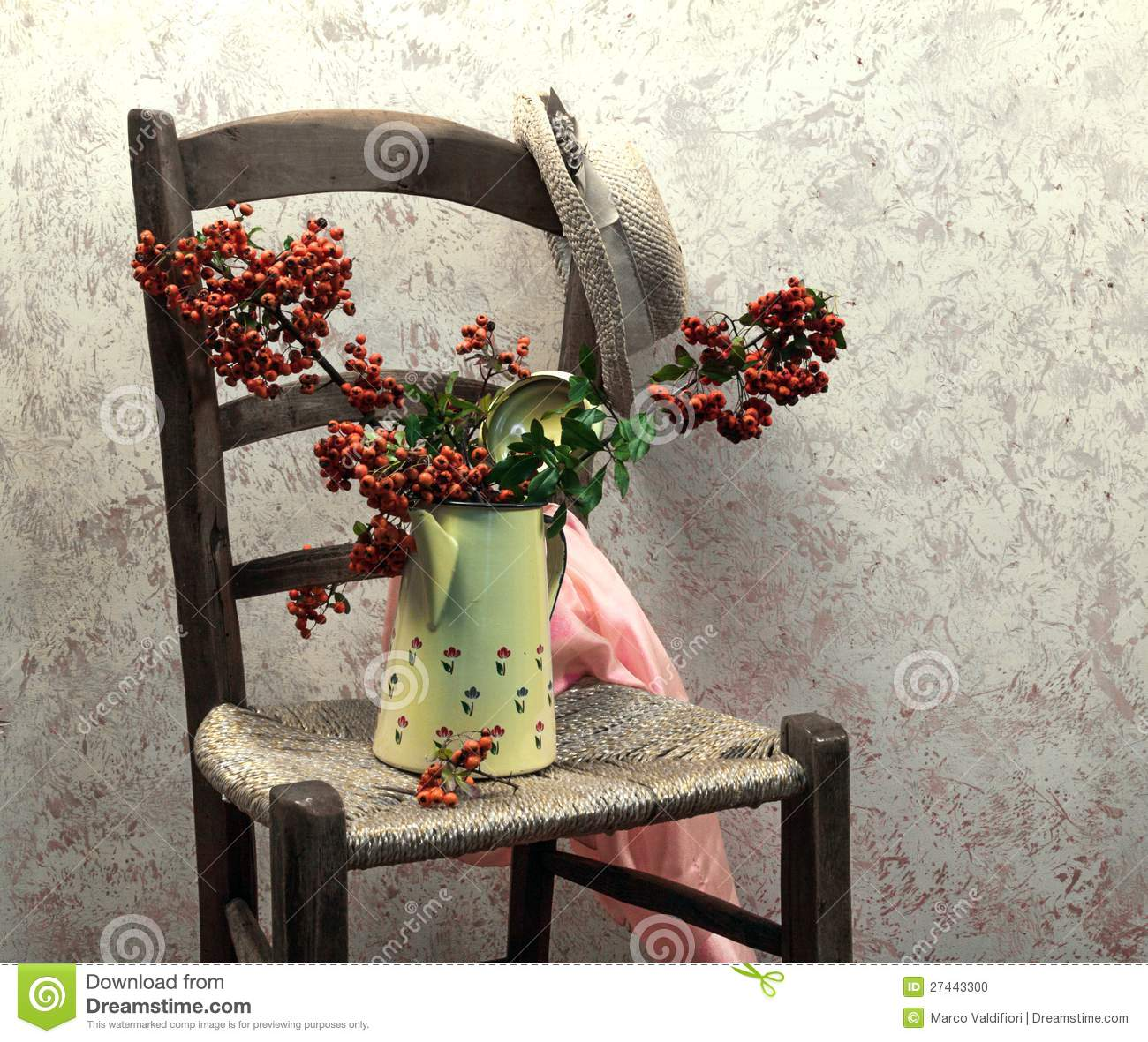 Still Life With Wood Chair Stock Photo - Image: 27443300
