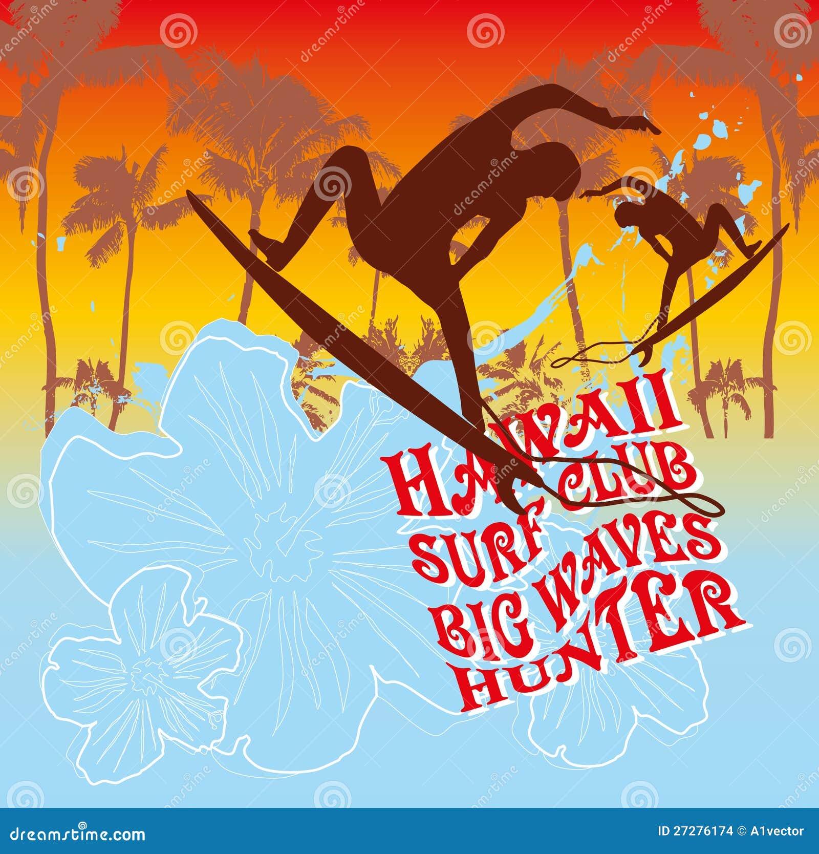 Stillahavs- design för surfarevektordiagram