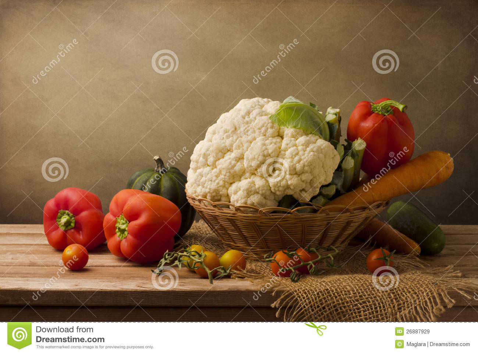 Stilleben med nya grönsaker