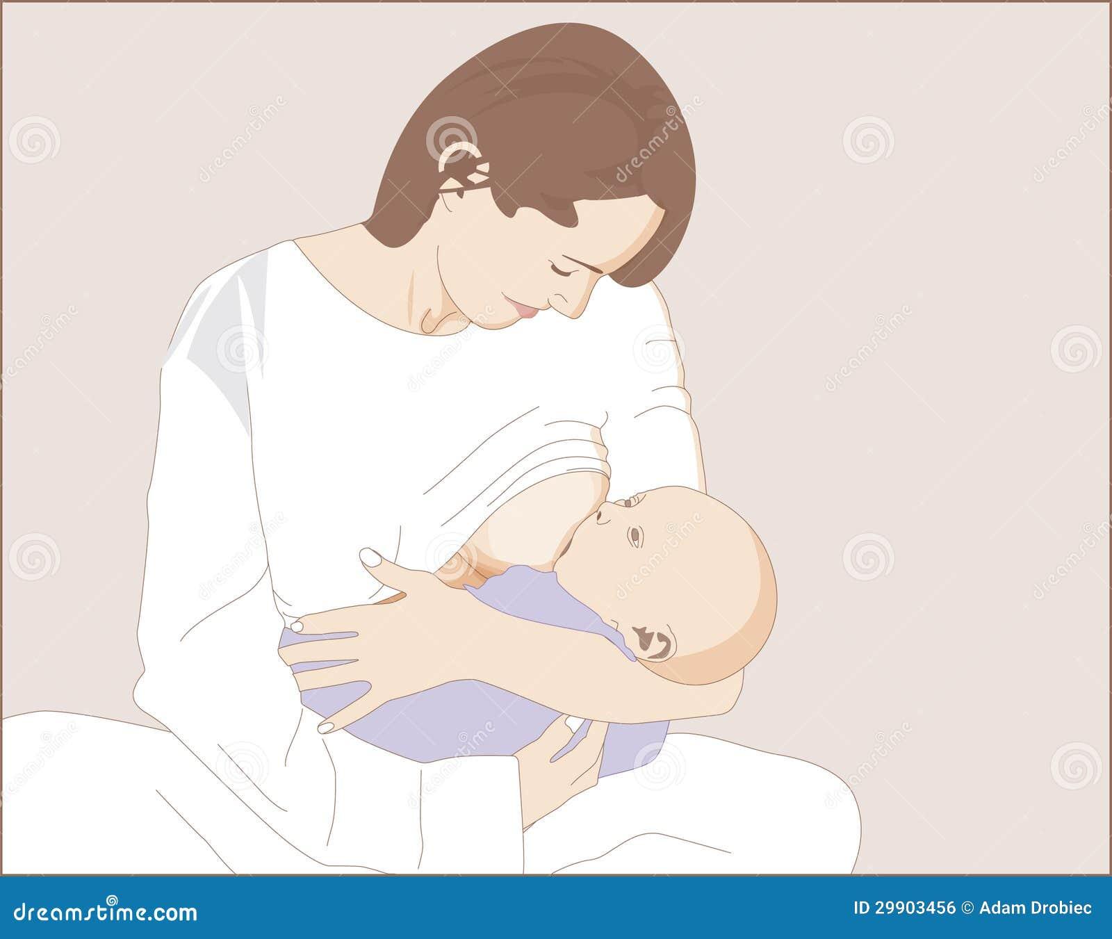 Stillen eines neugeborenen Kindes