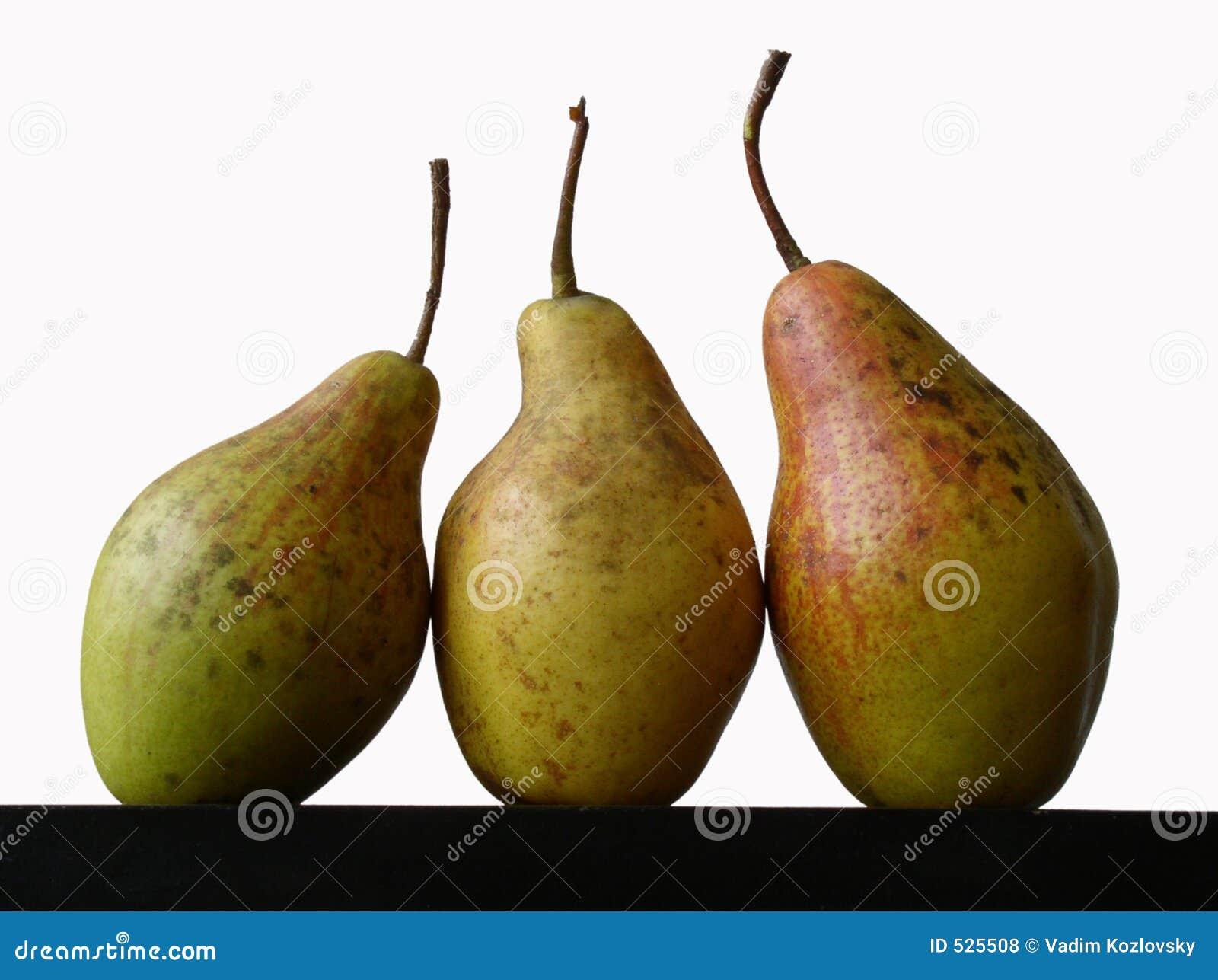 Stilleven met drie peren