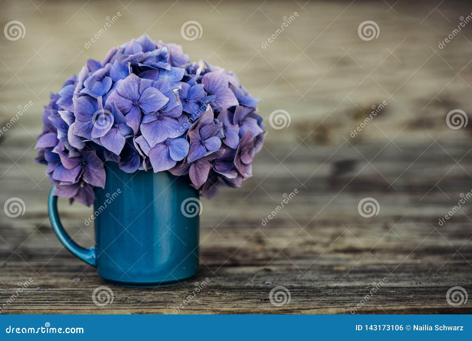 Stilleven met Hortensia Flowers