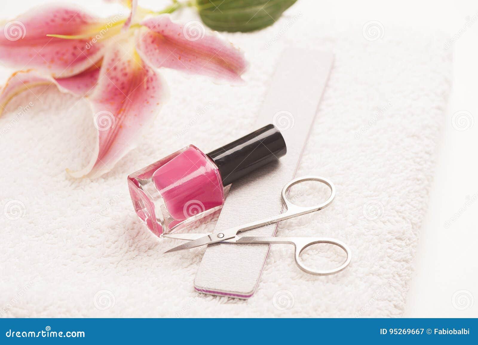Stilleven van manicuremateriaal