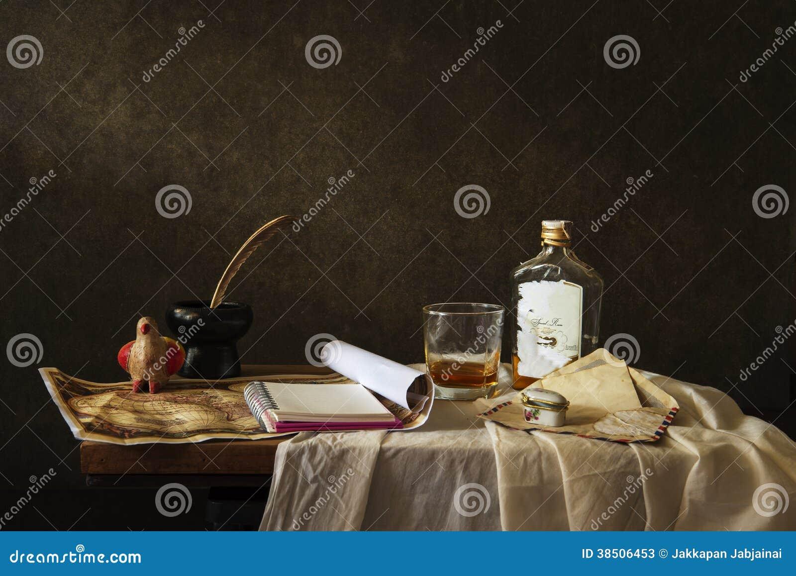 stillleben fotografie mit schreibtisch stockbild bild von tuch trocken 38506453. Black Bedroom Furniture Sets. Home Design Ideas