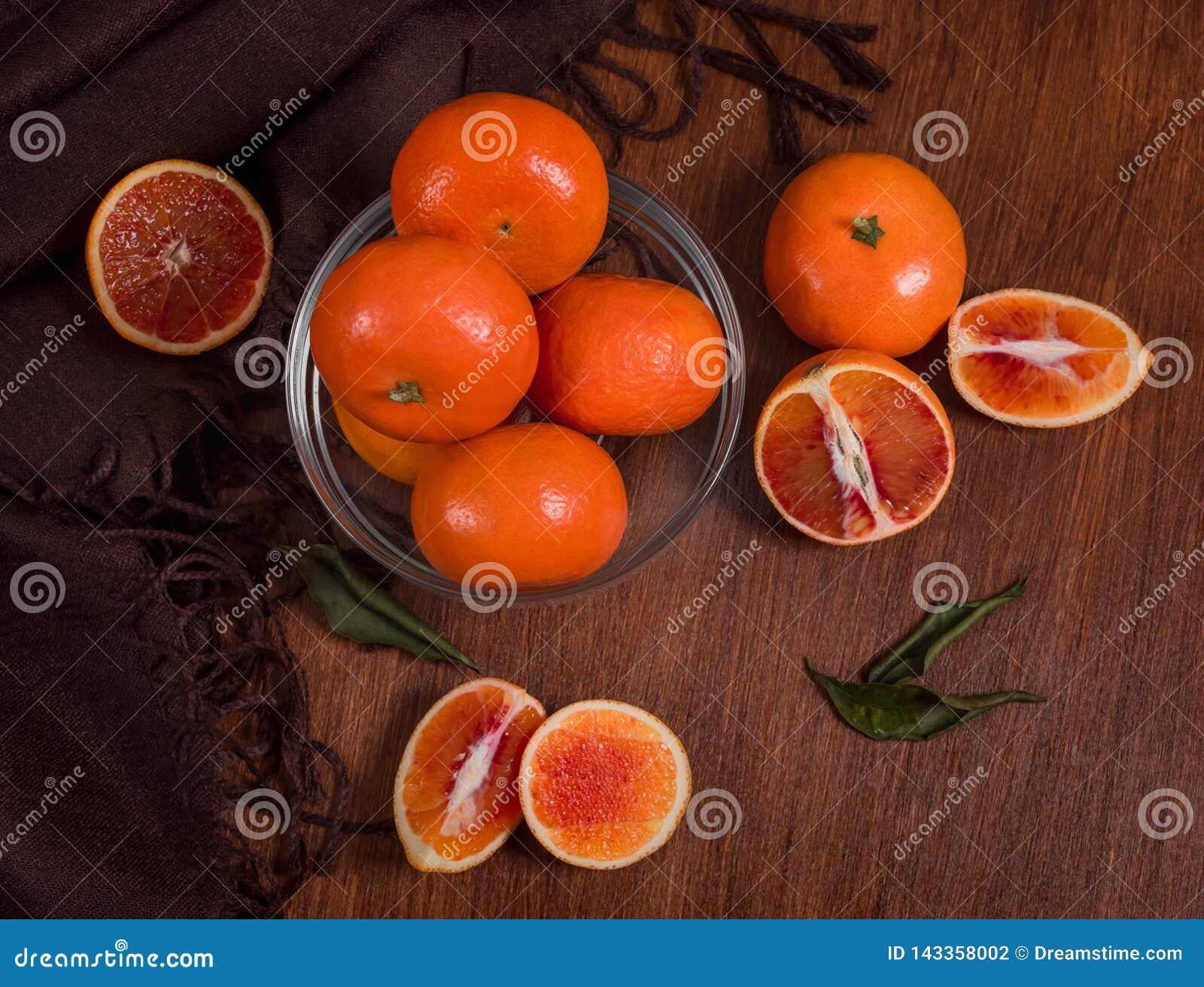 Stillleben von Orangen Nahaufnahme