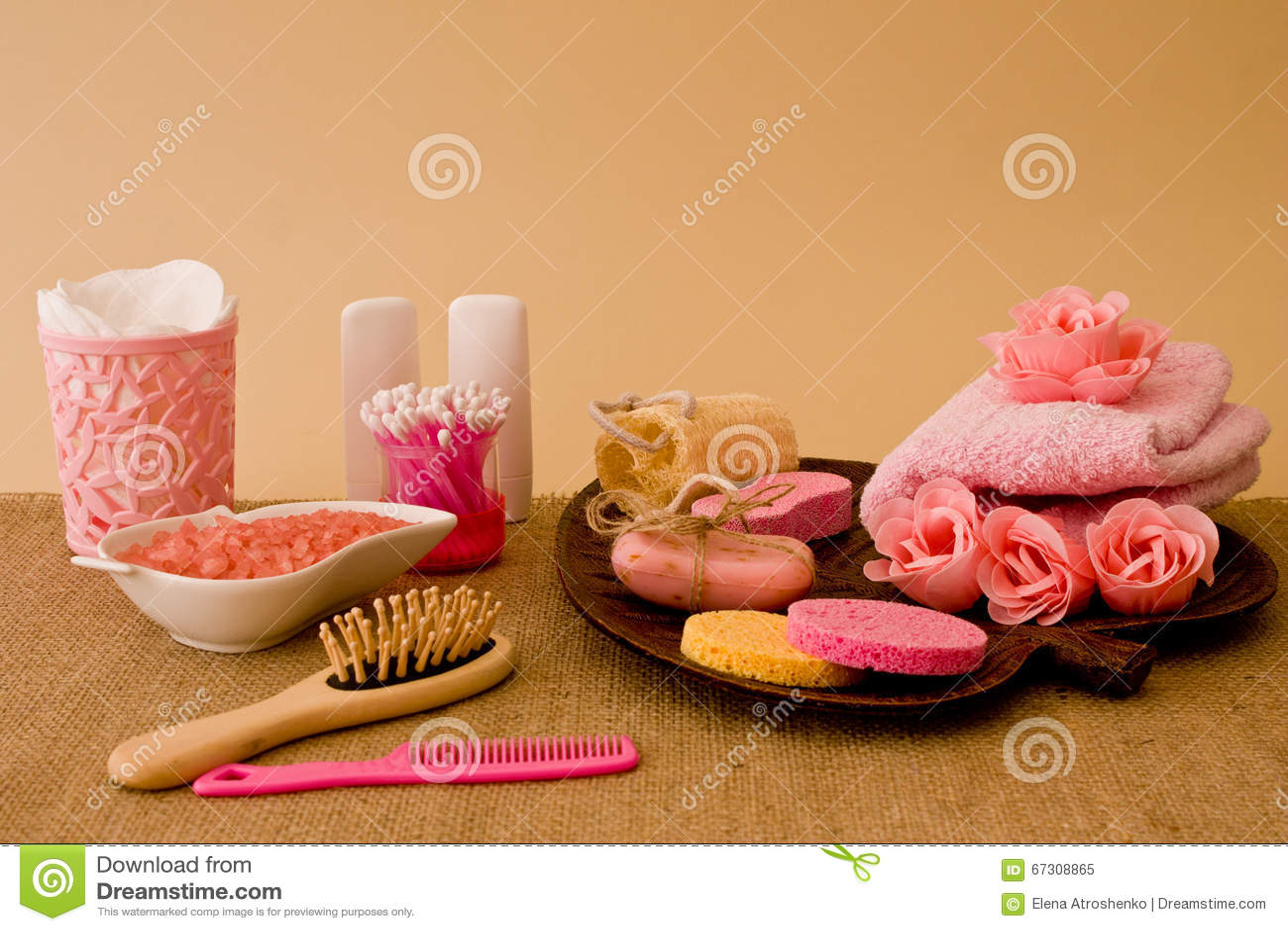 Stillleben Von Werkzeugen Und Von Durchschnitten Für Skincare Und