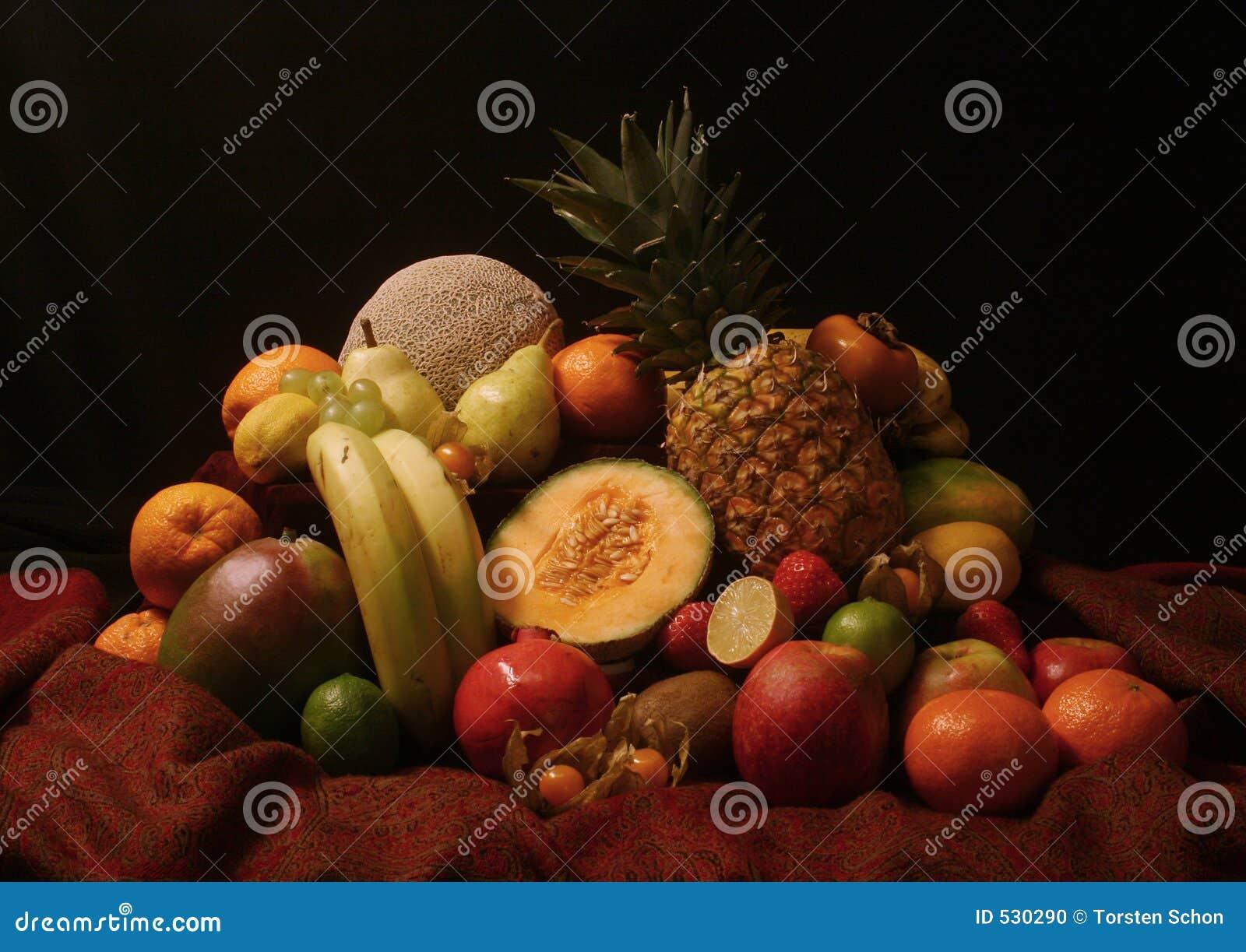 Stilllife pitoresco das frutas