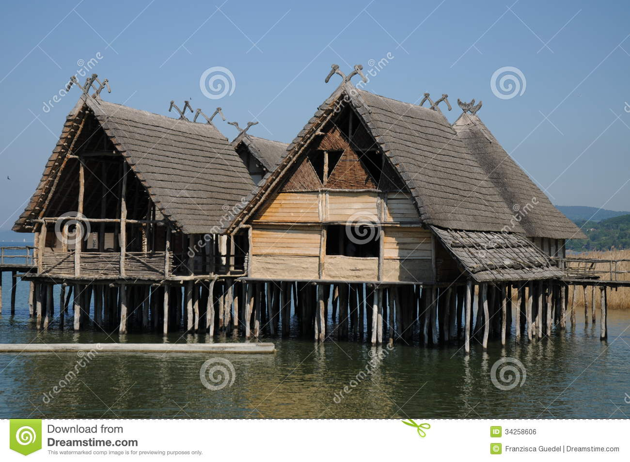 Stilt Houses Pile Dwellings Palafittes Royalty Free