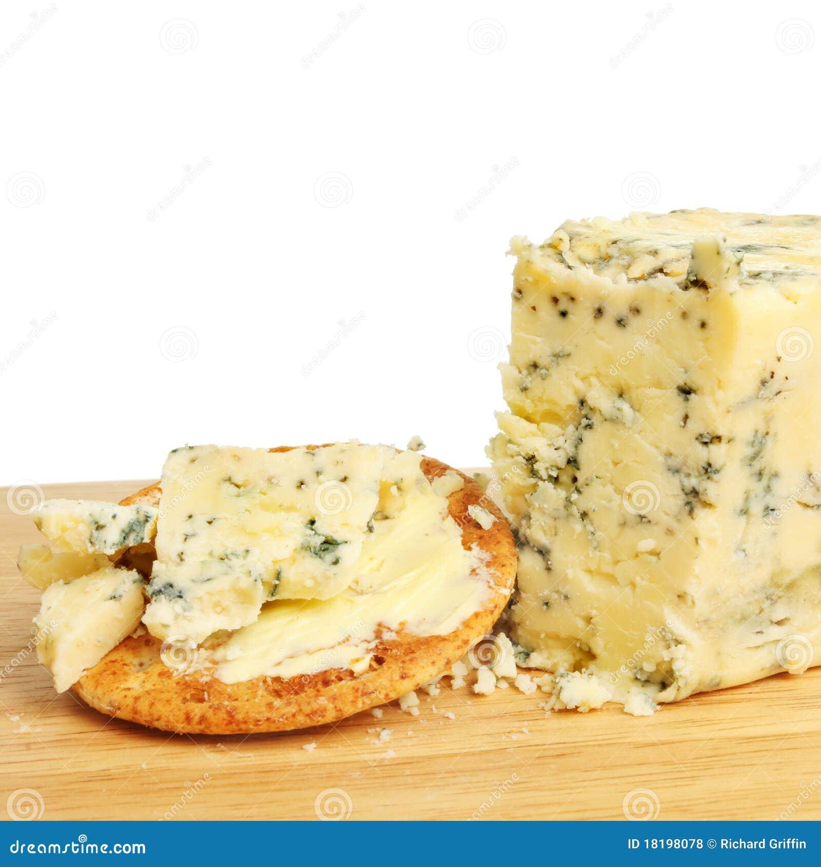 Stilton Käse und Biskuit