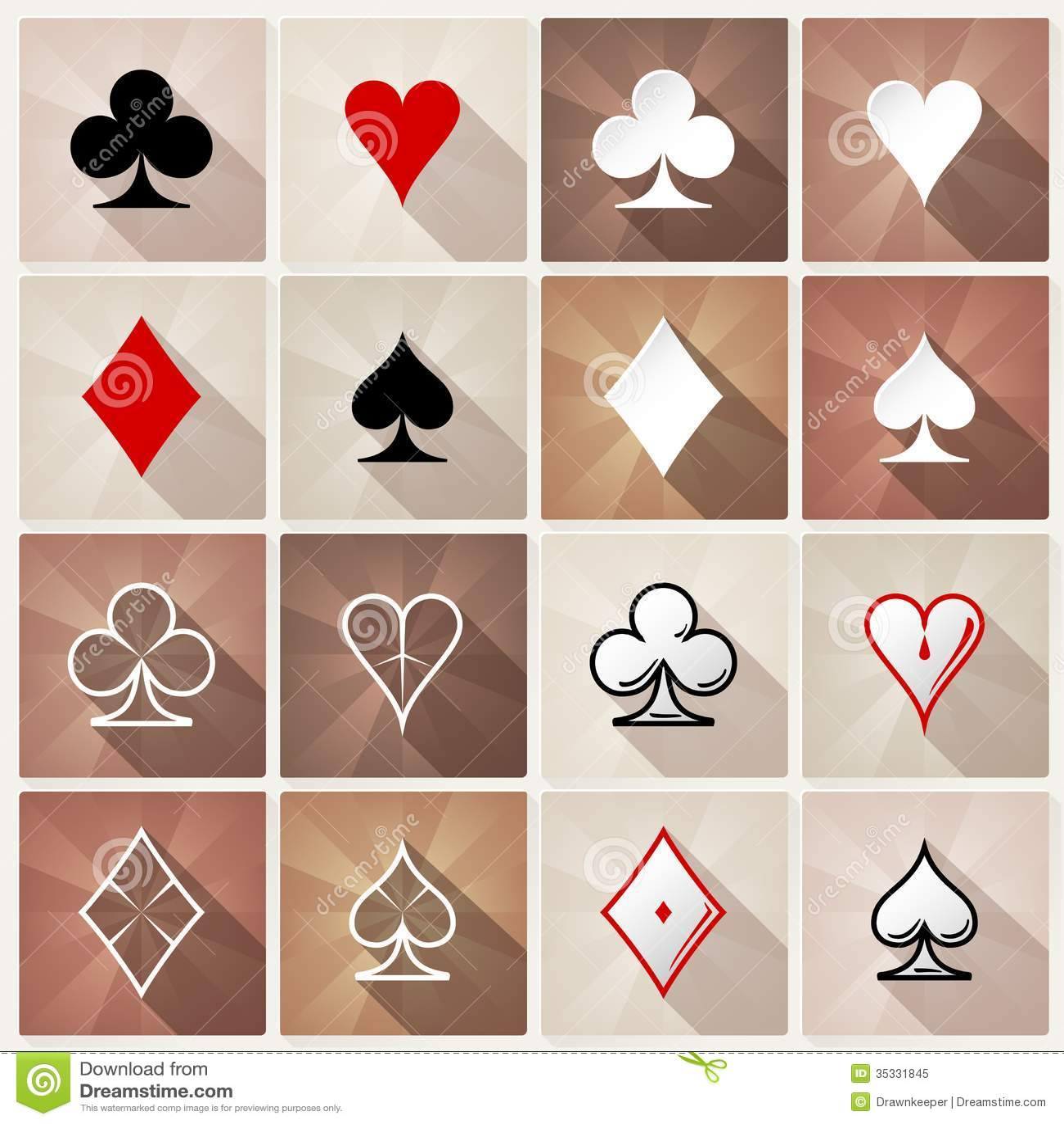 Stilvolle Kartenklagenikonen