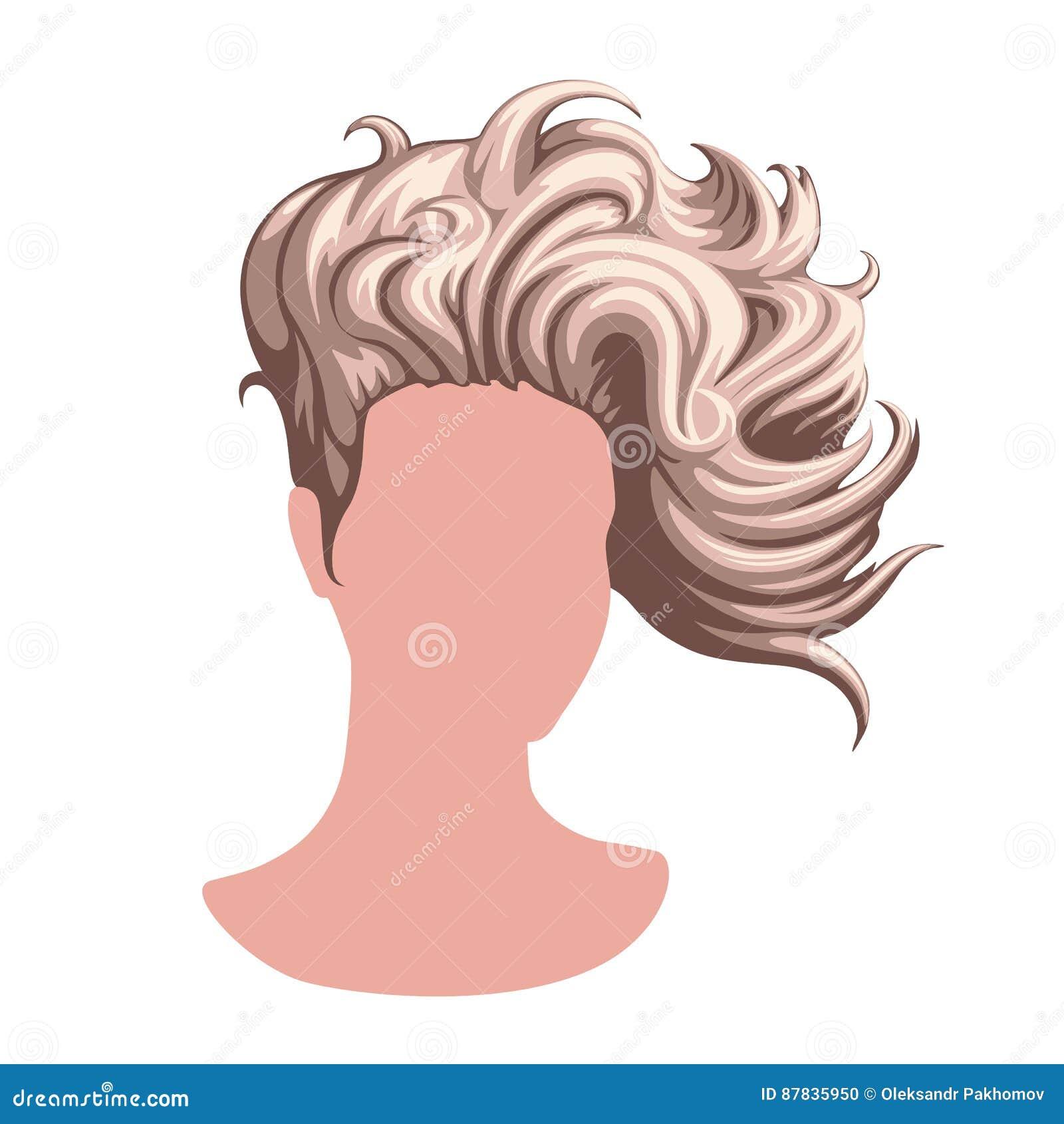 Stilvolle weibliche Frisur vektor abbildung. Illustration von