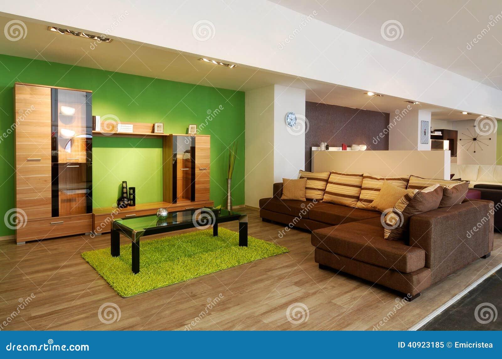 Stilvolle Wohnzimmermöbel Stockfoto Bild