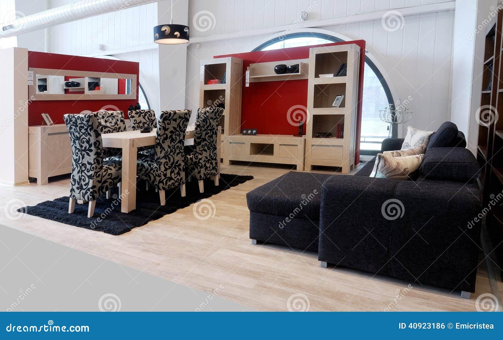 Stilvolle Wohnzimmermöbel stockfoto. Bild von innen, liegesofa ...