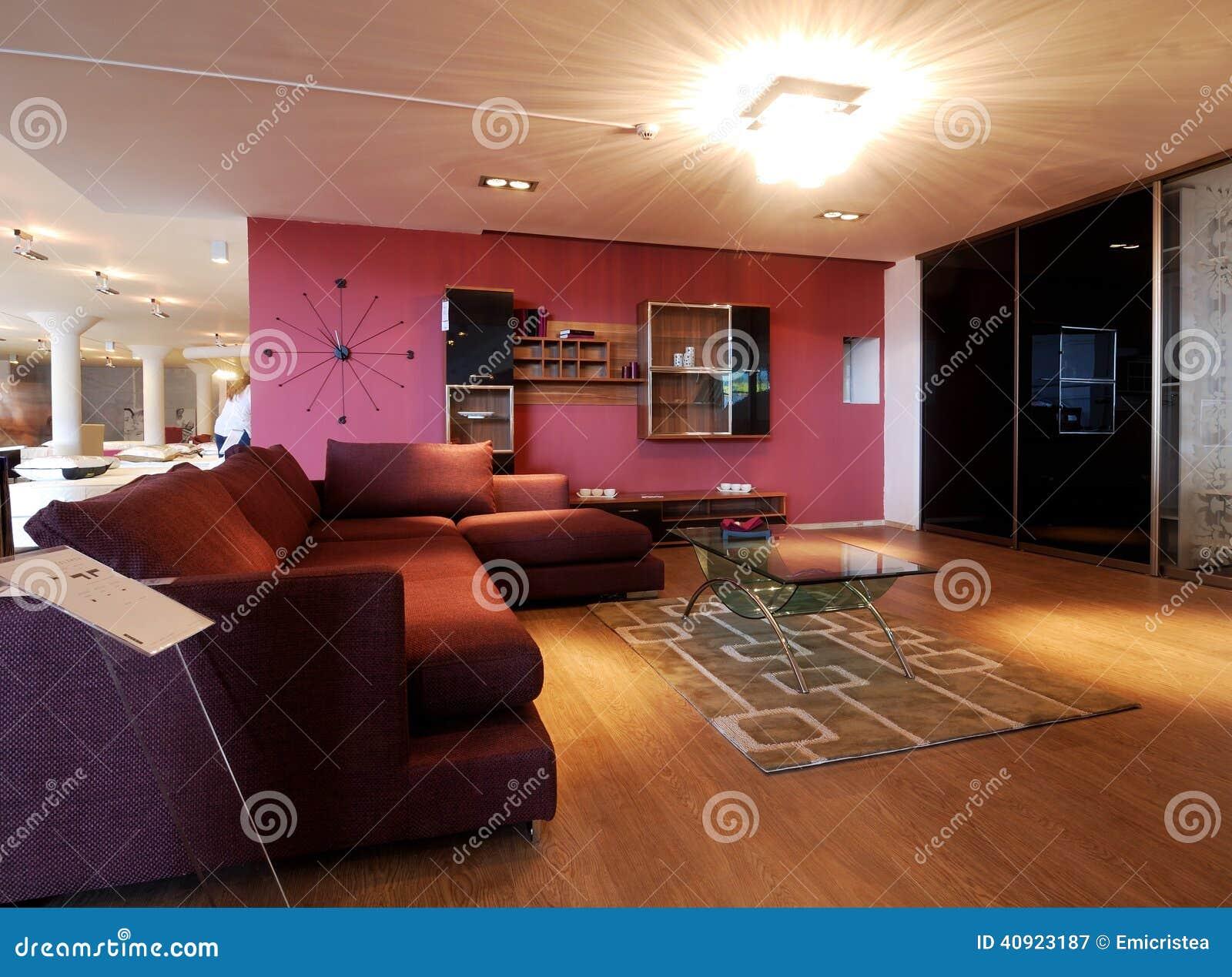Stilvolle Wohnzimmermöbel stockbild. Bild von wohn, lebensstil ...
