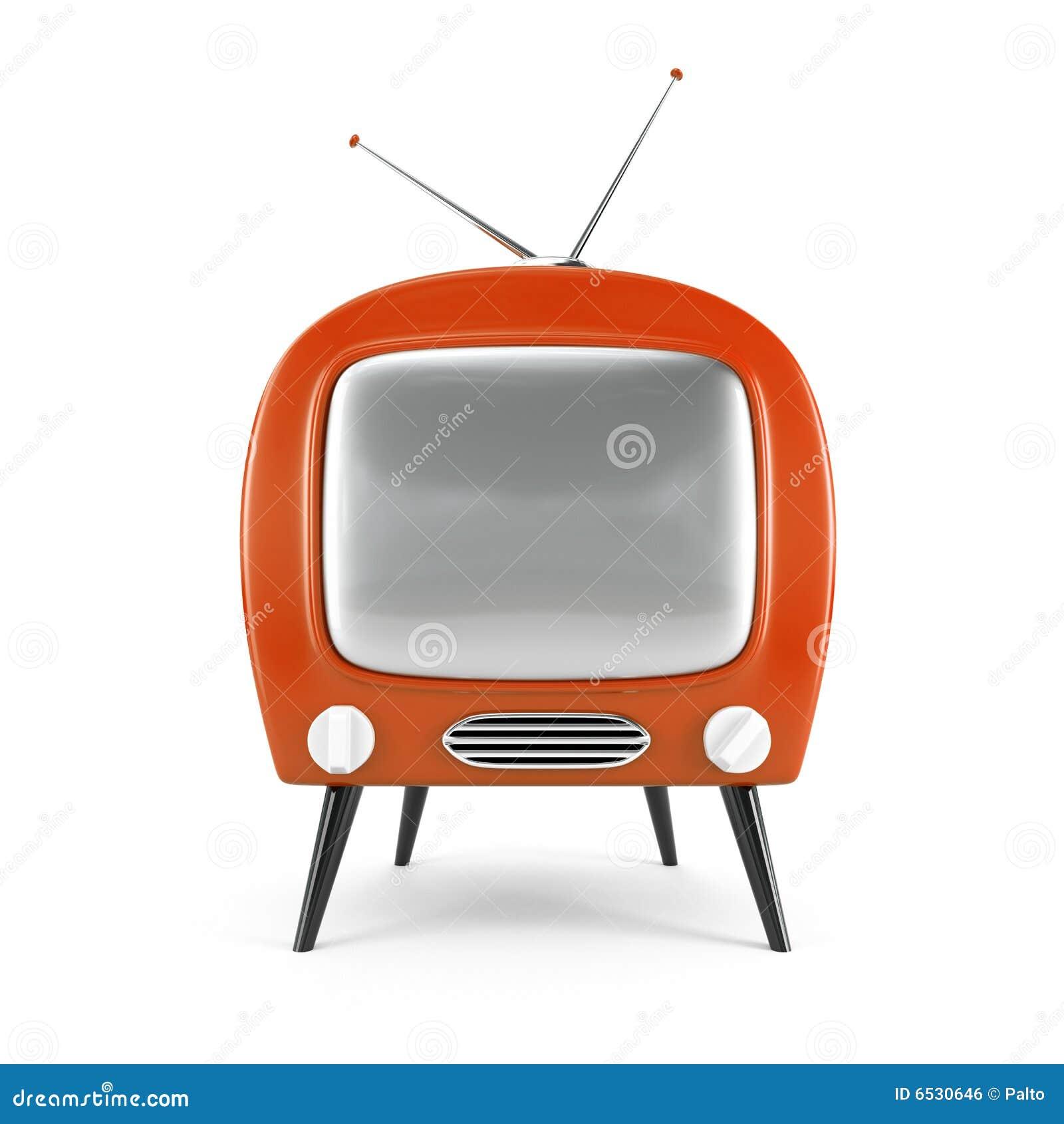 Stilvoller Retro- Fernsehapparat