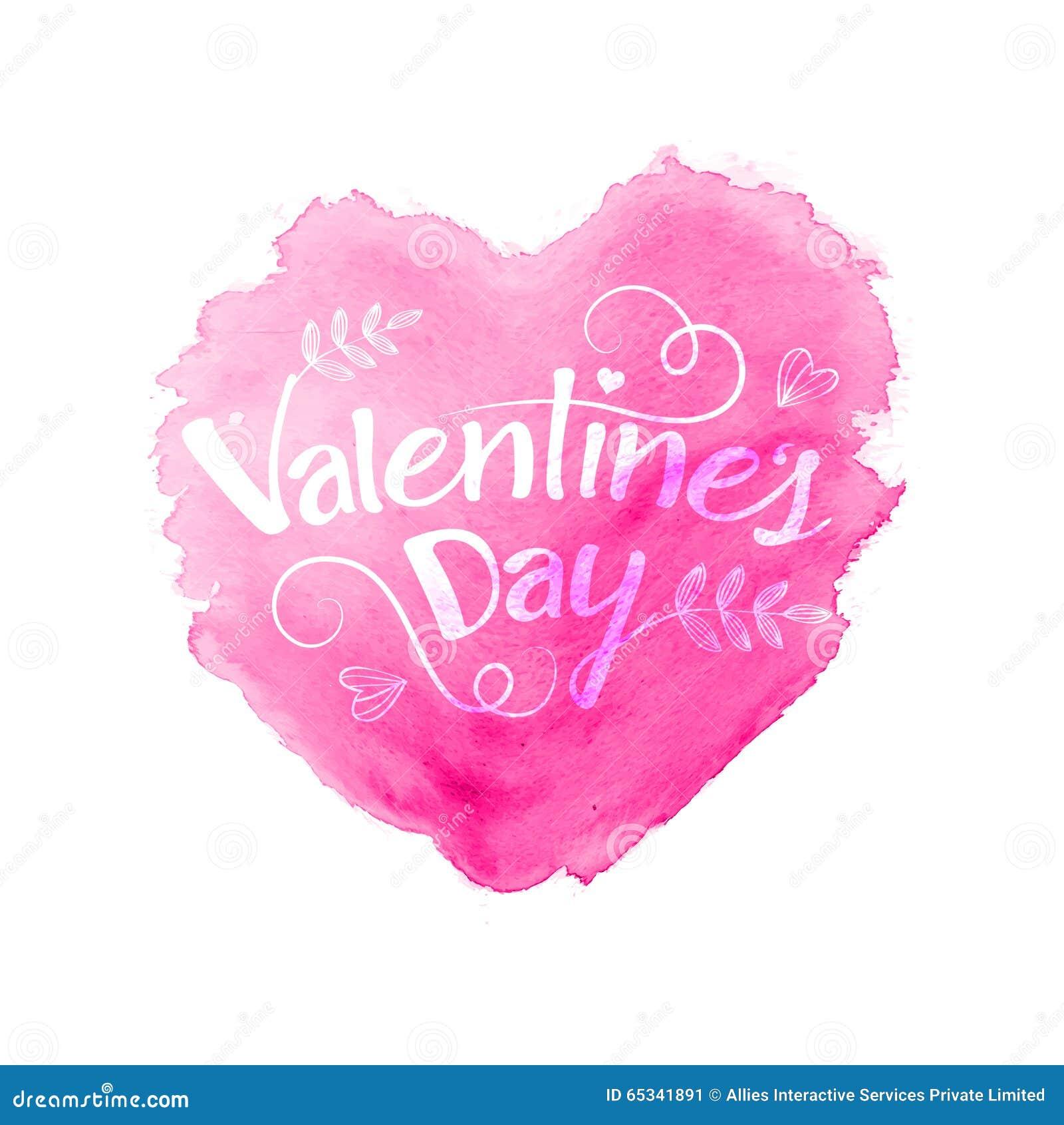Stilvoller Text Mit Herzen Für Valentinstag