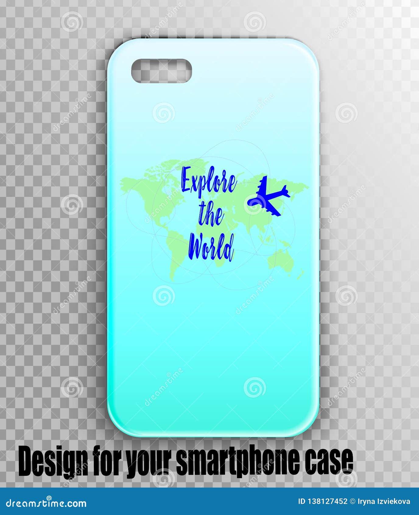 Stilvolles Modell von iPhone Fall mit Designerdruck