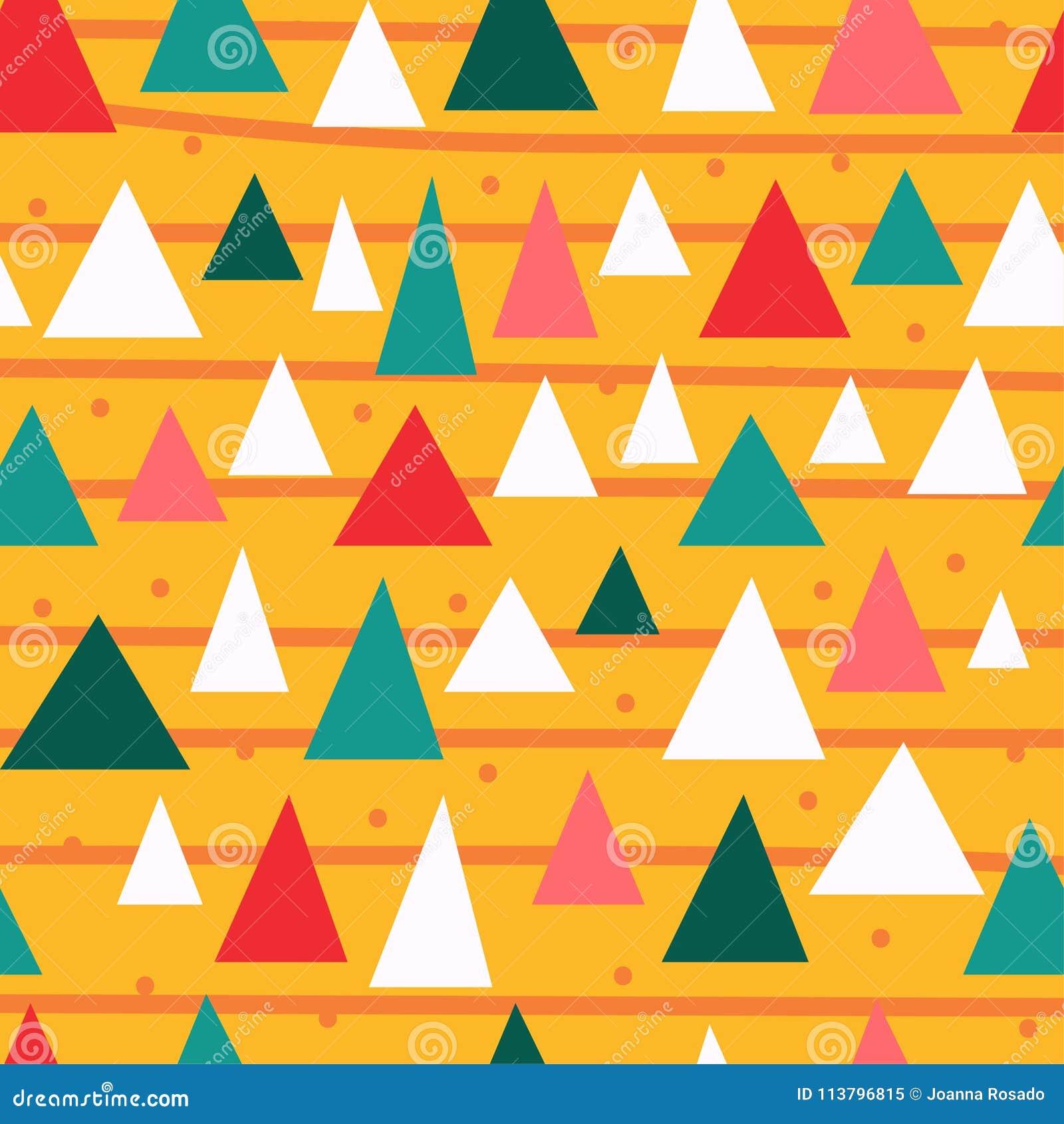 Stilvolles nahtloses Muster der dreieckigen Stücke