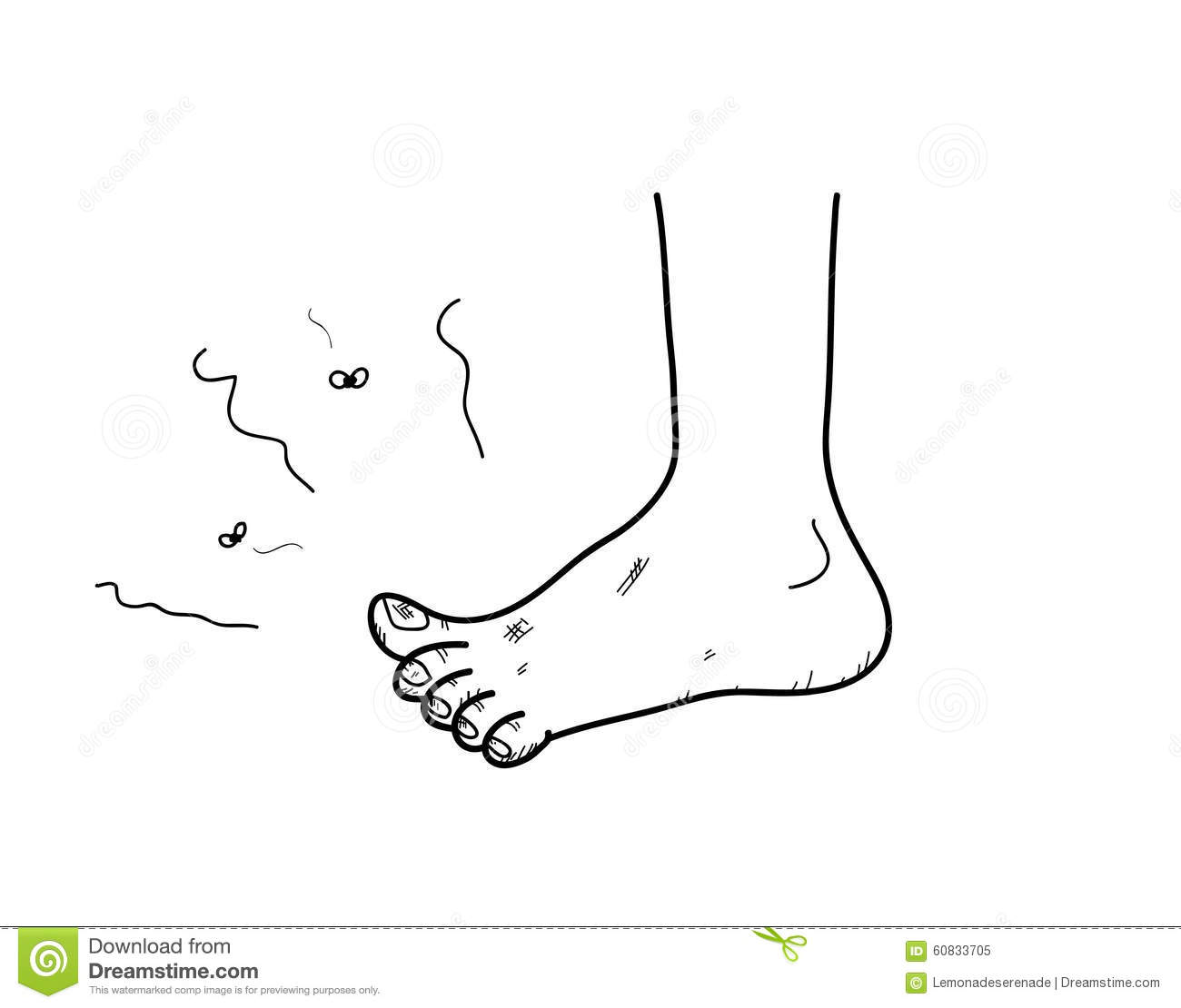 Stinky Foot Stock Vector Illustration Of Stink Clean