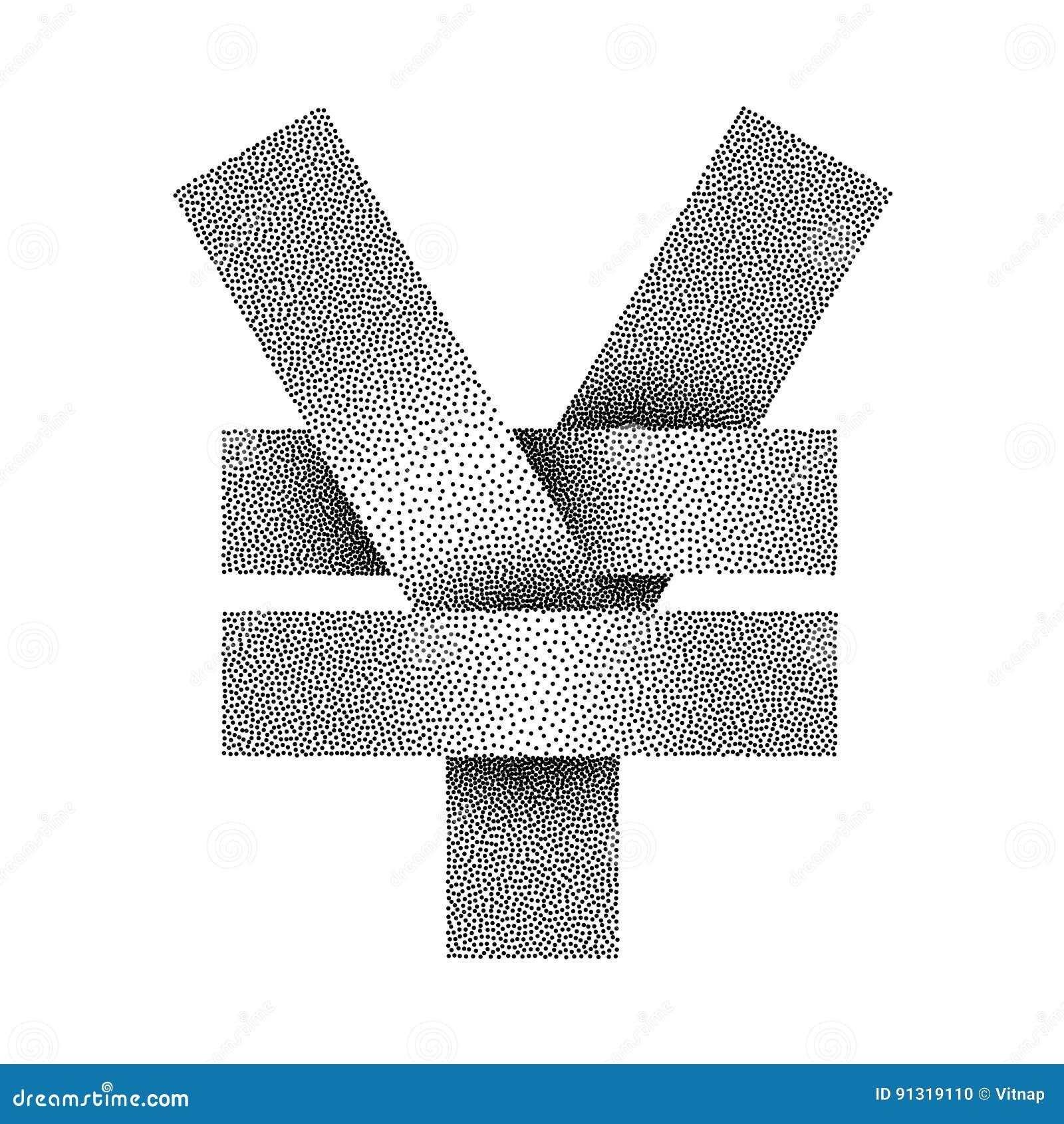 Stippled yuan and yen sign icon yuan or yen currency symbol stippled yuan and yen sign icon yuan or yen currency symbol vector illustration biocorpaavc