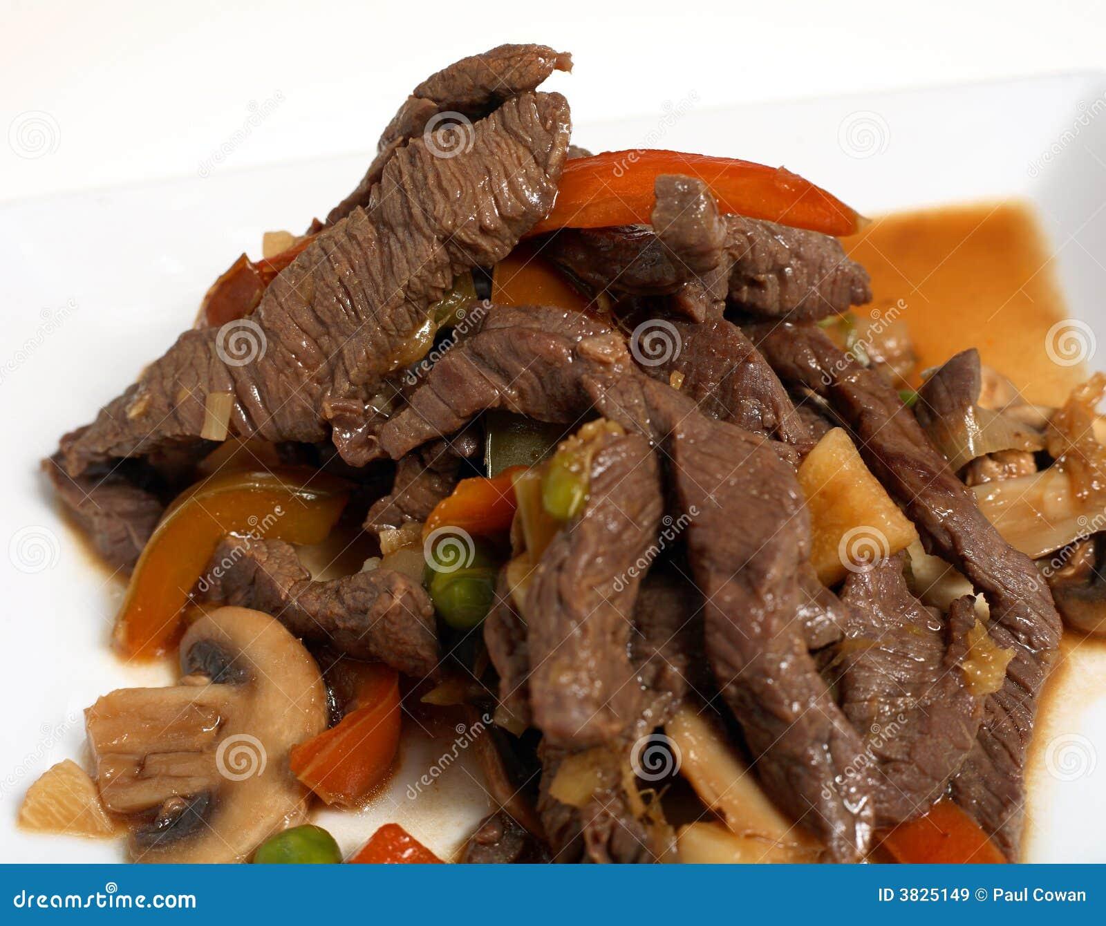 Stir макроса fry говядины тайский