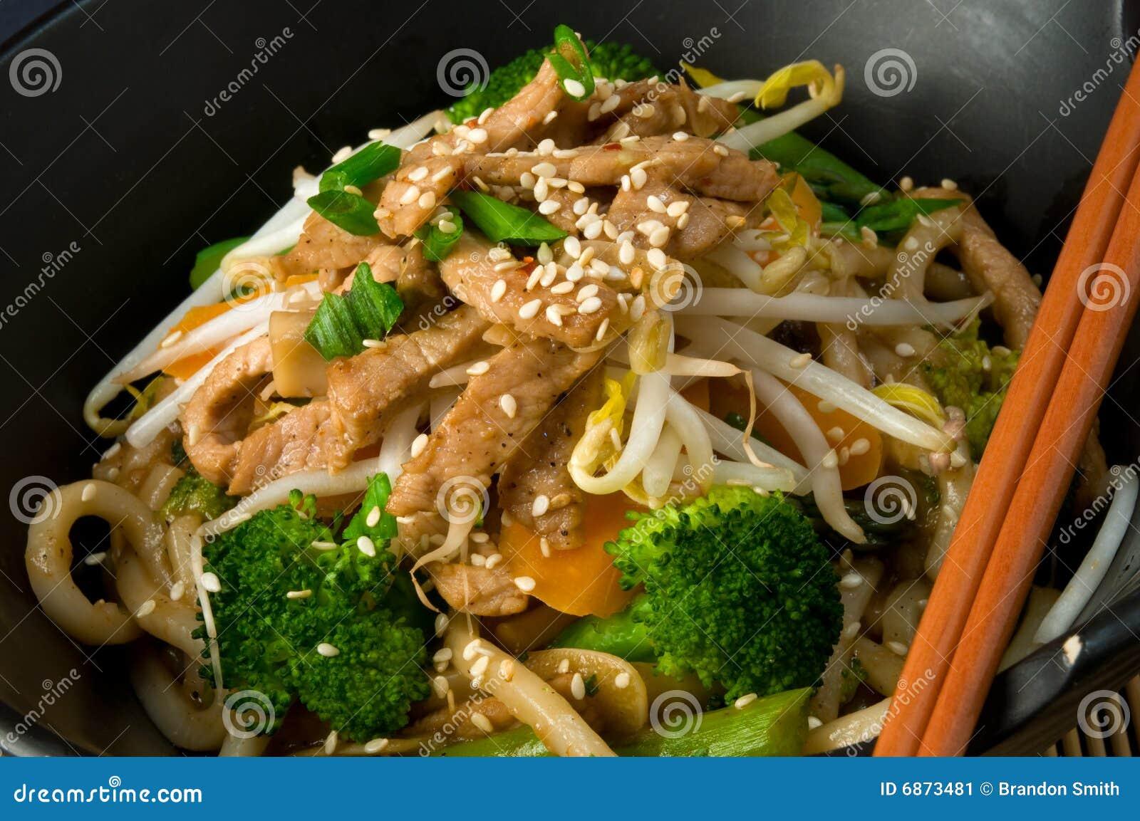 Stir asiatique de friture