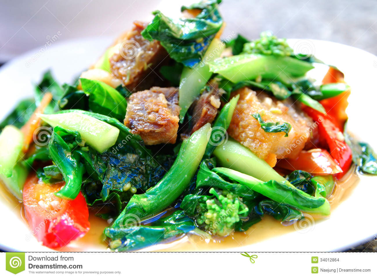 Pork with Crispy Kale