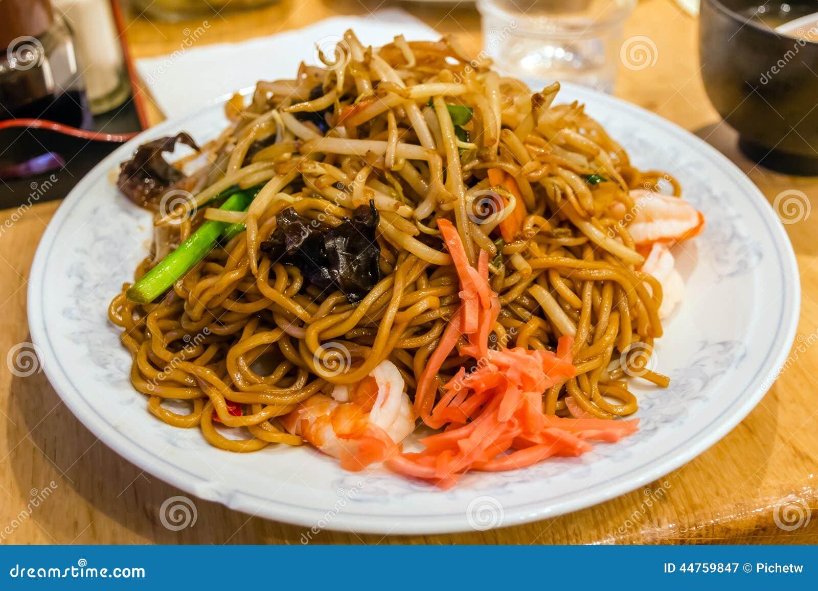 Stir Fried Noodles, Yakisoba Stock Photo - Image: 44759847
