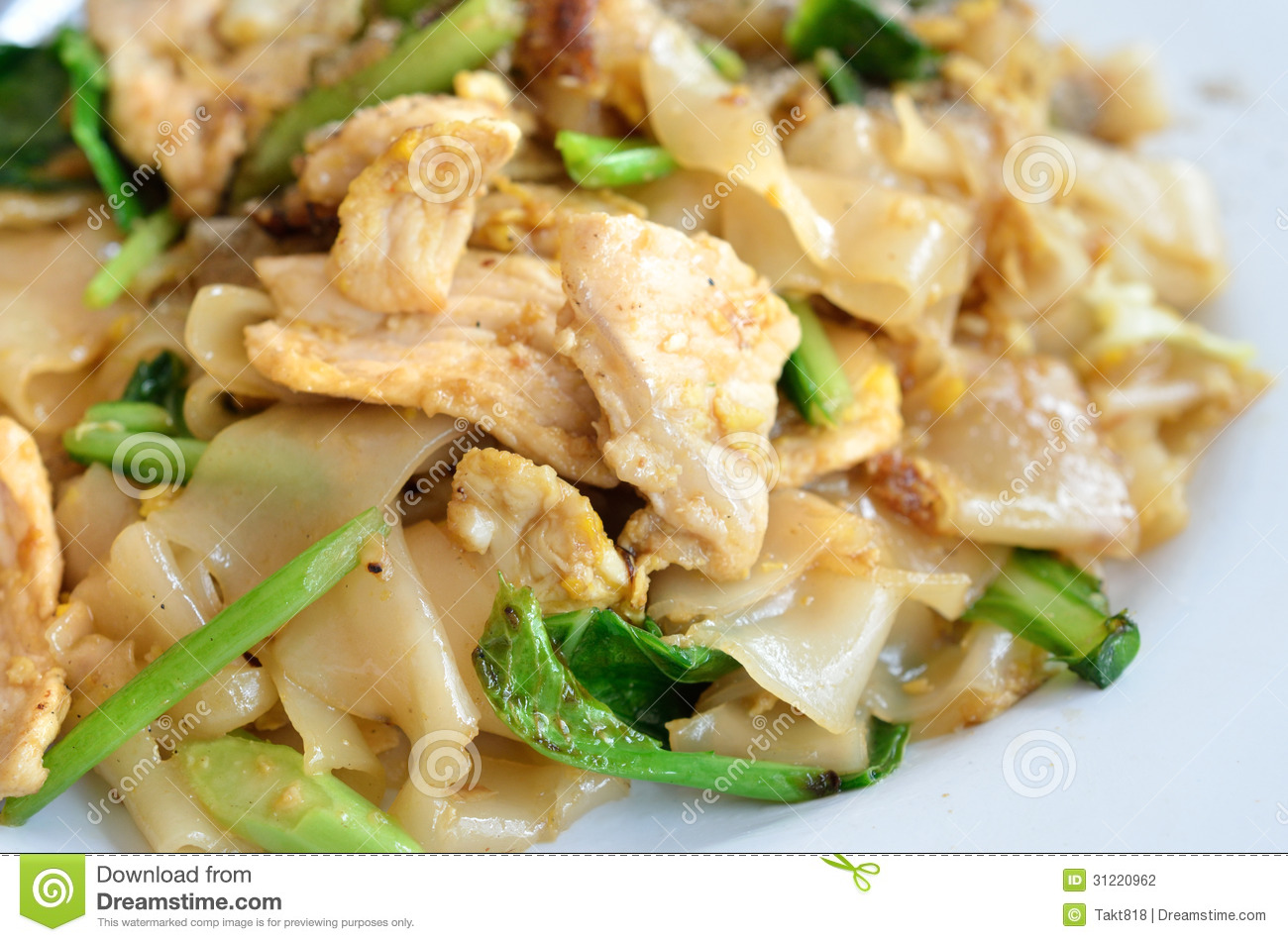 Stir-Fried Rice Noodles With Eggs And Greens Recipes — Dishmaps