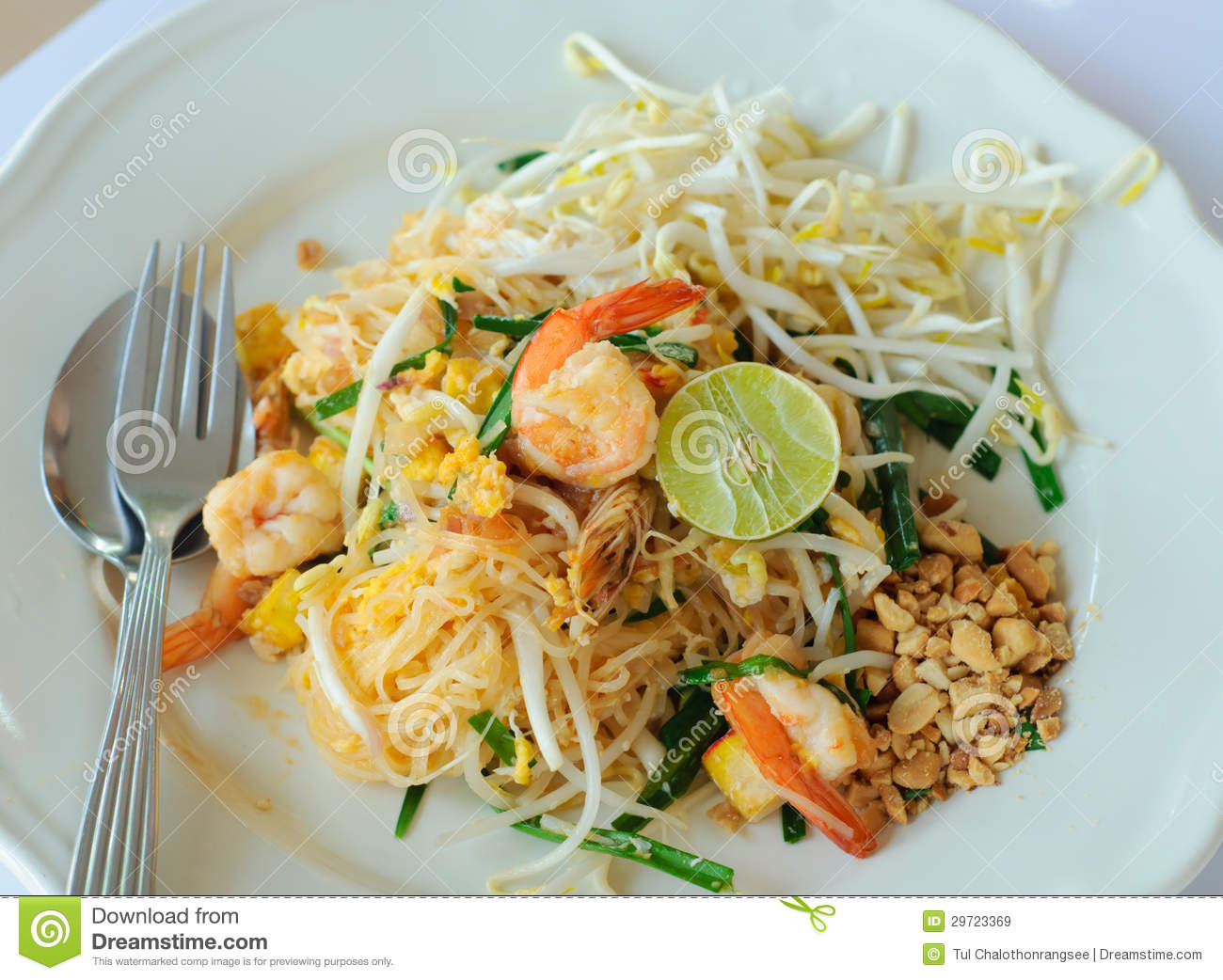 Stir-fried Rice Noodle With Shrimp Royalty Free Stock Images - Image ...