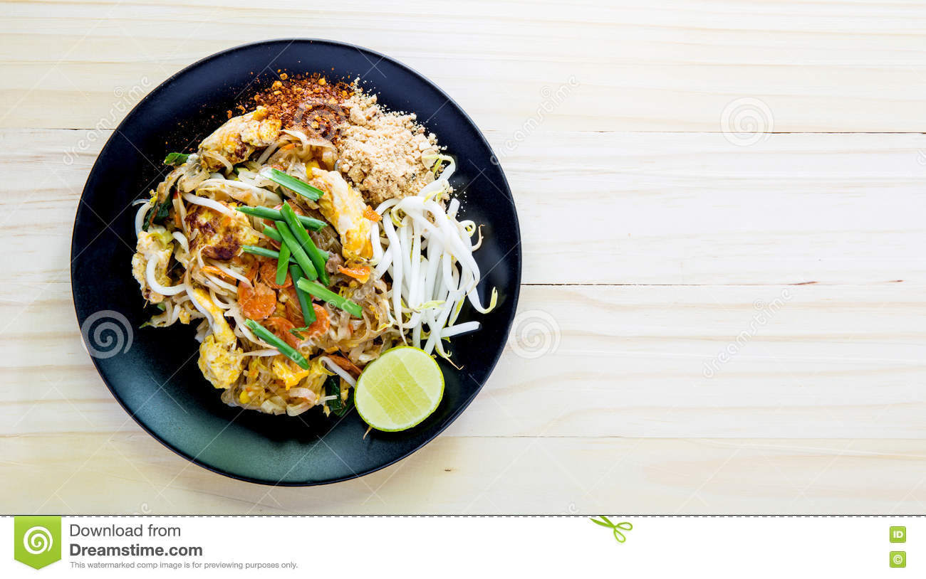 Stir-fried rice noodles (Pad Thai) is the popular food Thailand