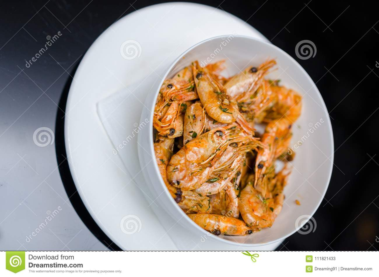 Stir-fried shrimp. The one of Thailand`s national main dish. the popular food in Thailand