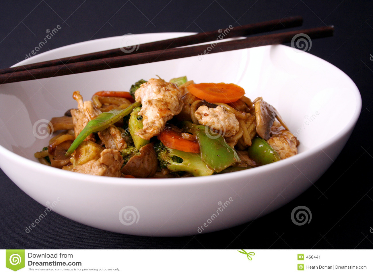 Download Stir fry and chop sticks stock image. Image of green, peas - 466441